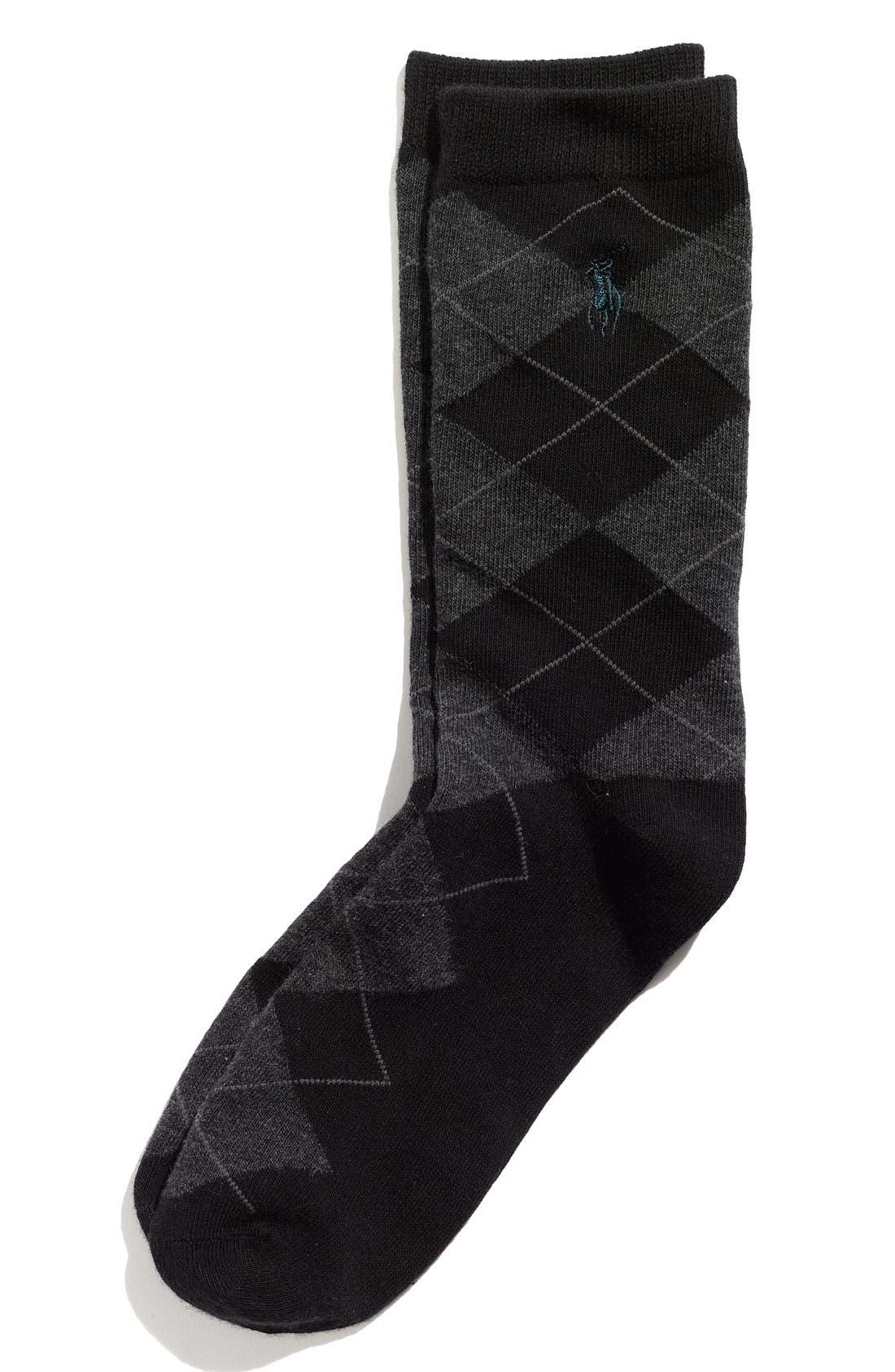 Alternate Image 1 Selected - Ralph Lauren Argyle Socks (Toddler, Little Boys & Big Boys)