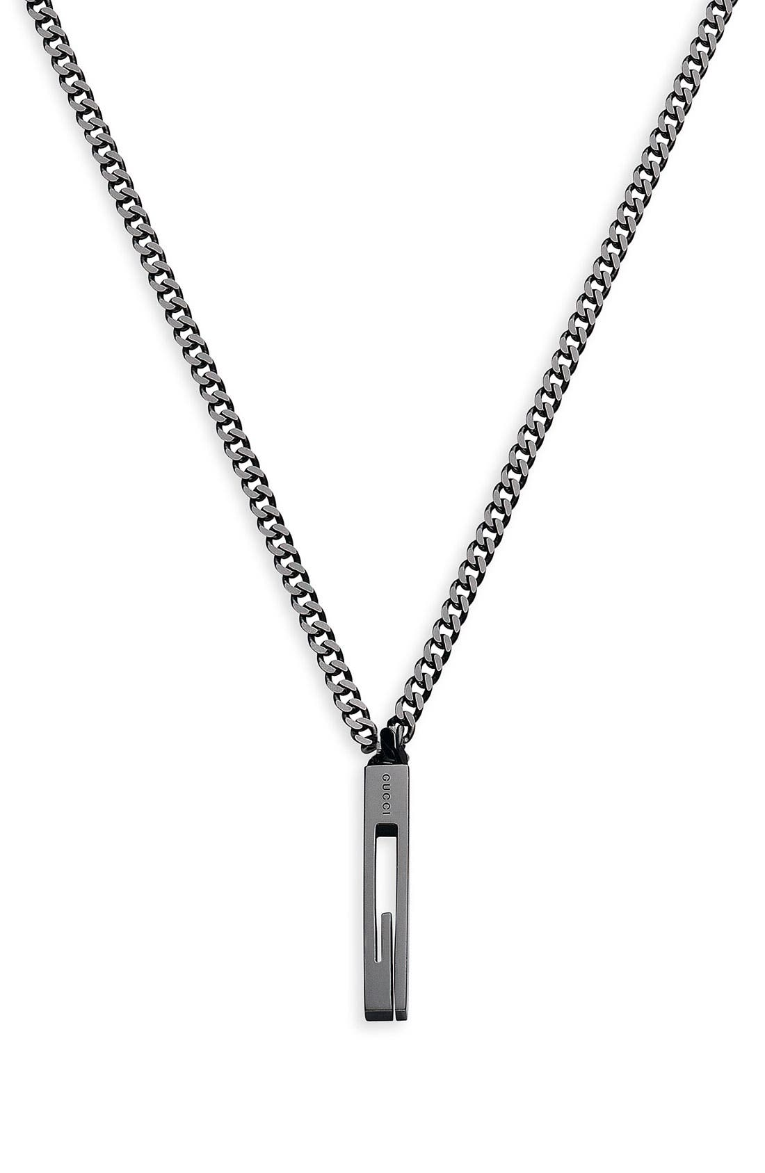 Alternate Image 1 Selected - Gucci 'Large G' Pendant Necklace