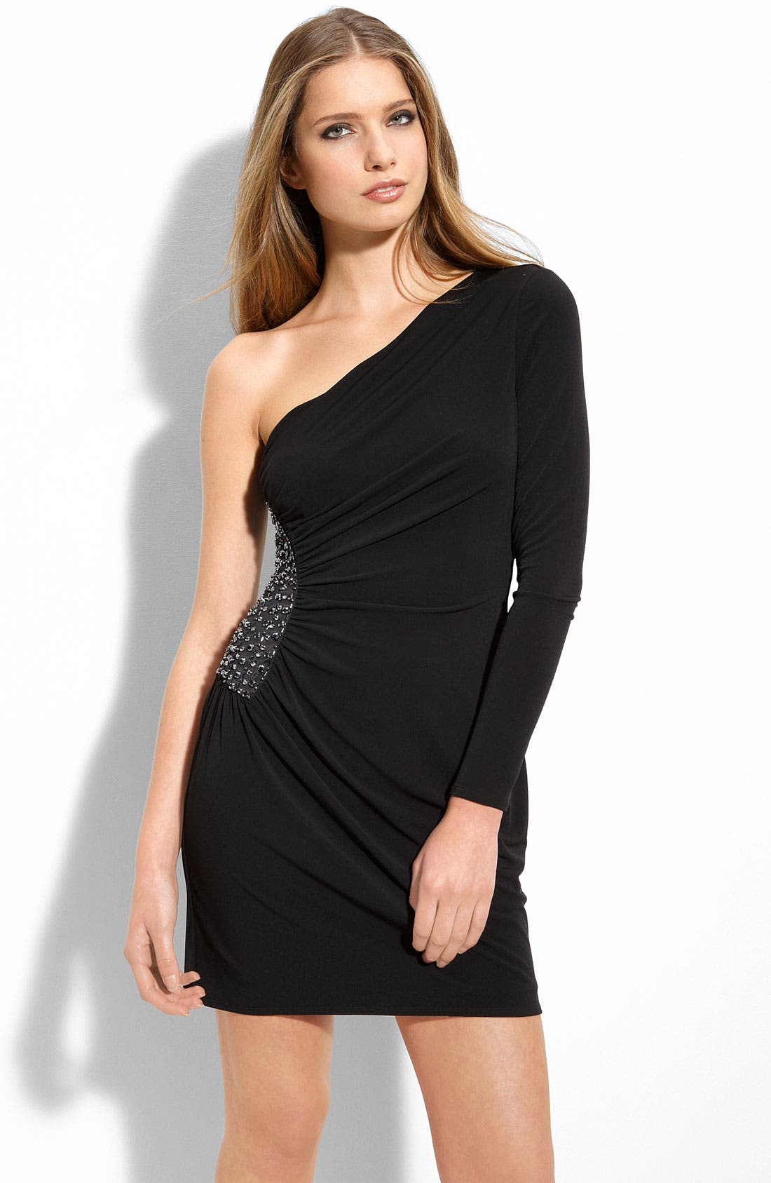 Alternate Image 1 Selected - Laundry by Shelli Segal One Shoulder Matte Jersey Dress