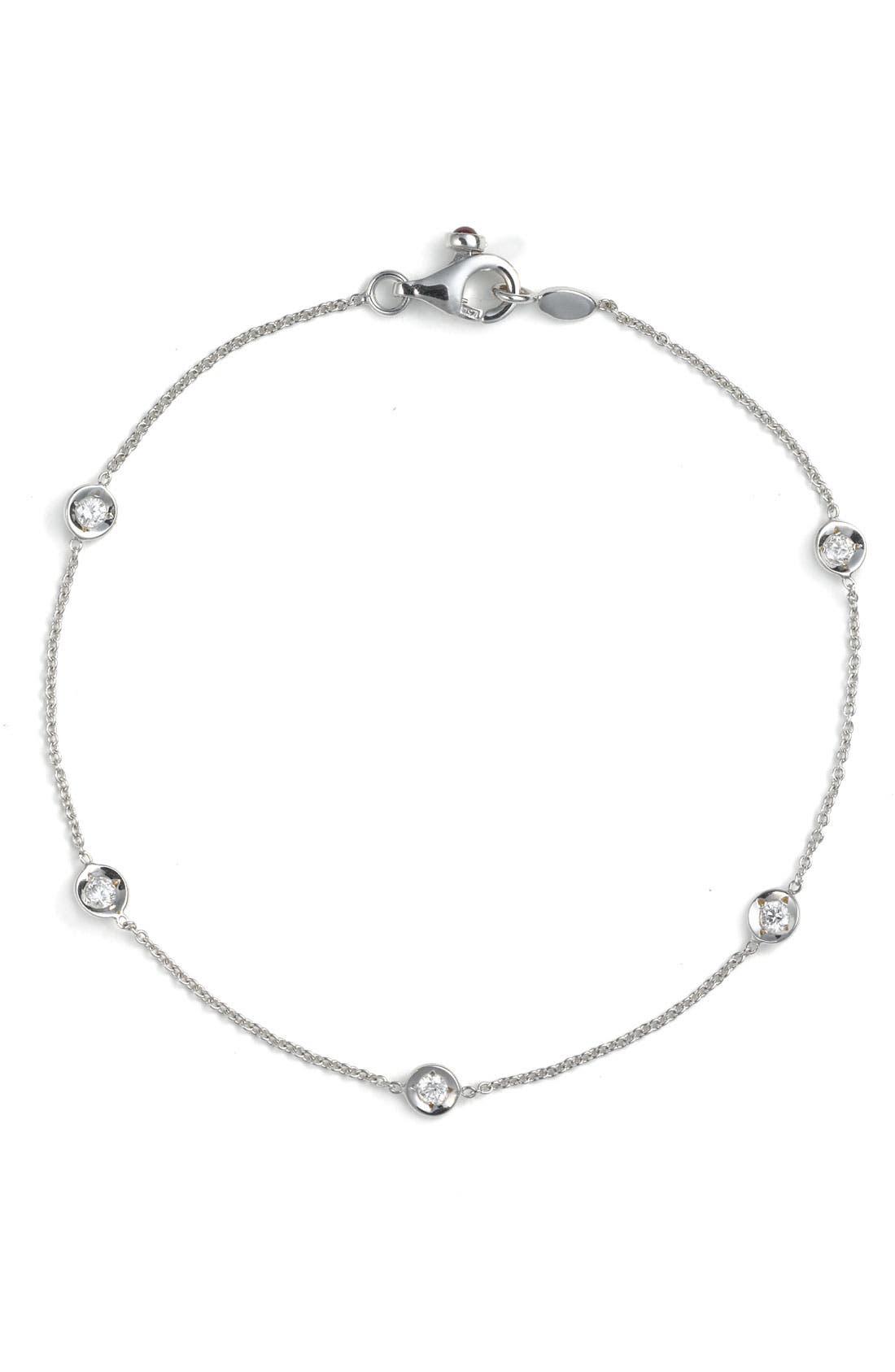 Alternate Image 1 Selected - Roberto Coin Diamond Bezel Station Bracelet