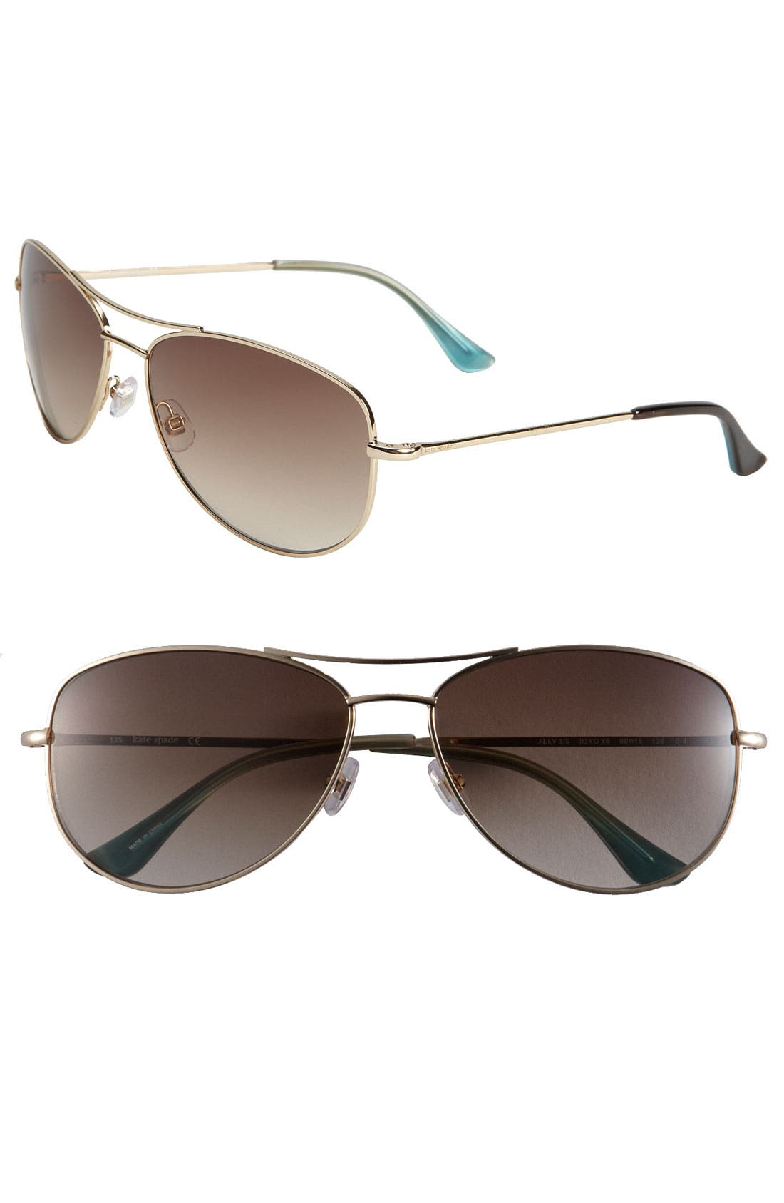 Main Image - kate spade new york 'ally 3' 60mm aviator sunglasses