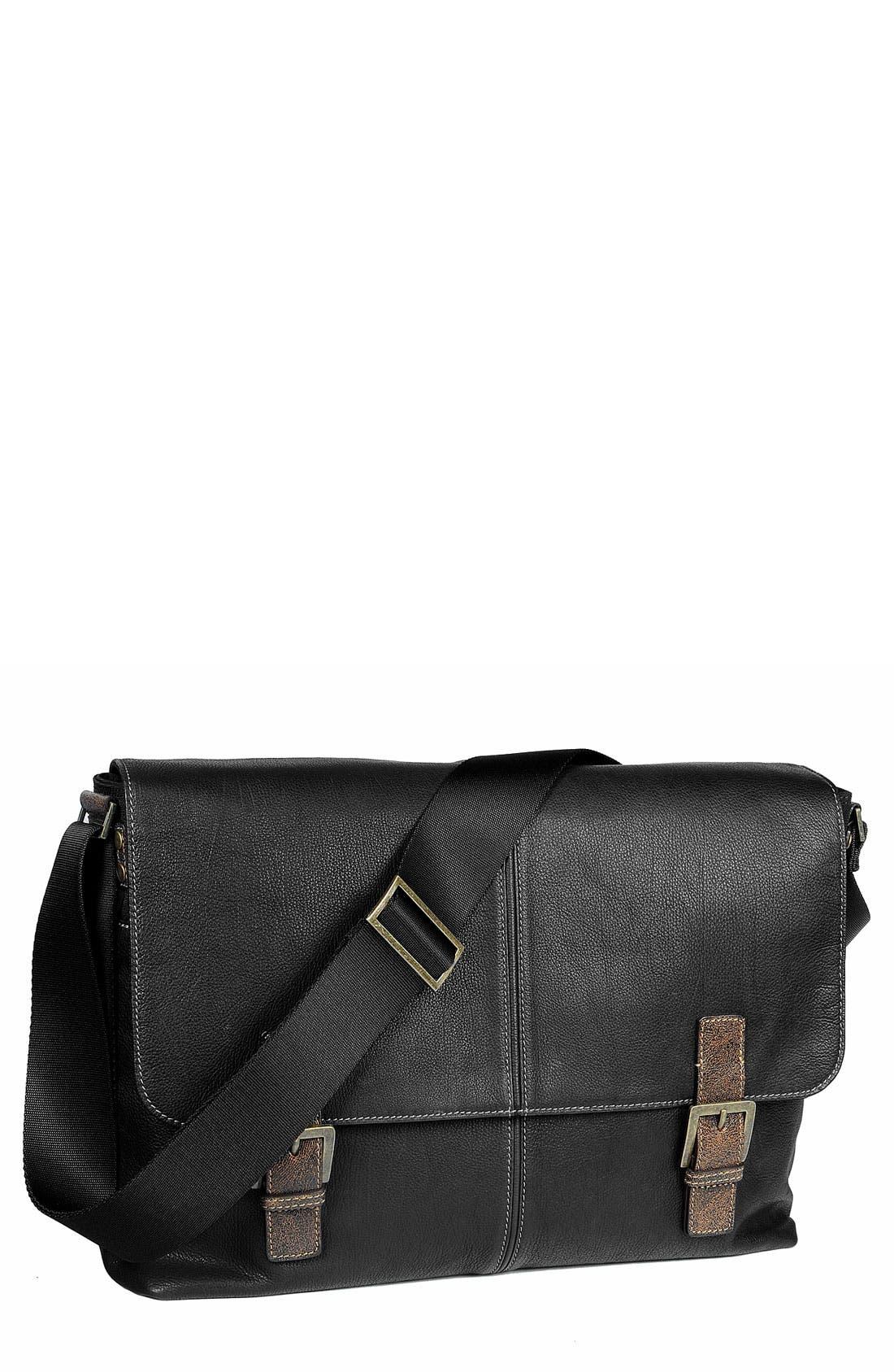 Alternate Image 1 Selected - Boconi Double Buckle Messenger Bag