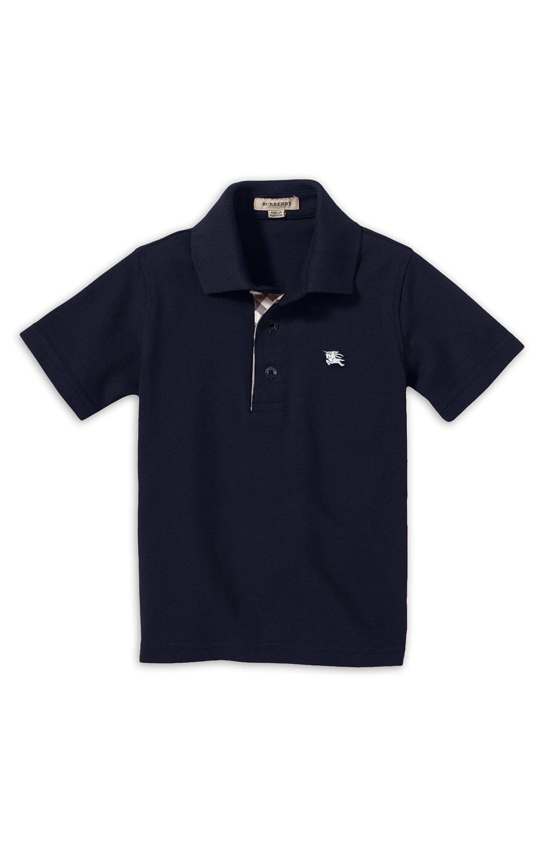 Alternate Image 1 Selected - Burberry Short Sleeve Polo (Toddler & Little Boys)