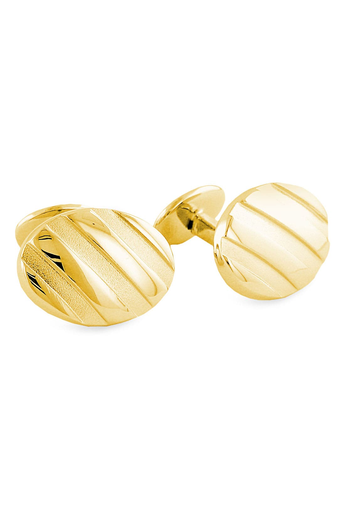 Textured Cuff Links,                         Main,                         color, Gold Oval