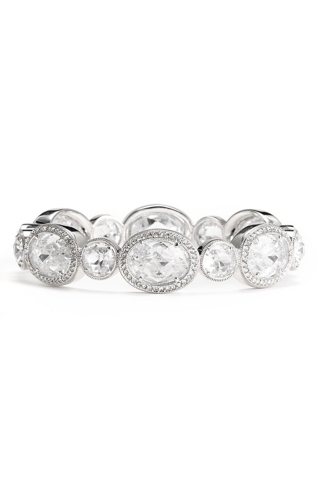 Alternate Image 1 Selected - Nadri Crystal & Cubic Zirconia Hinged Bangle
