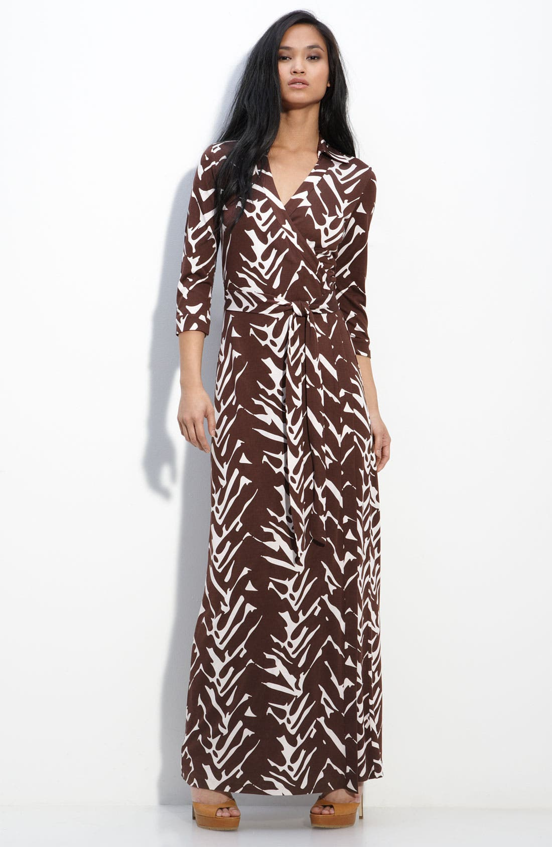 Alternate Image 1 Selected - Diane von Furstenberg 'Abigail' Maxi Wrap Dress