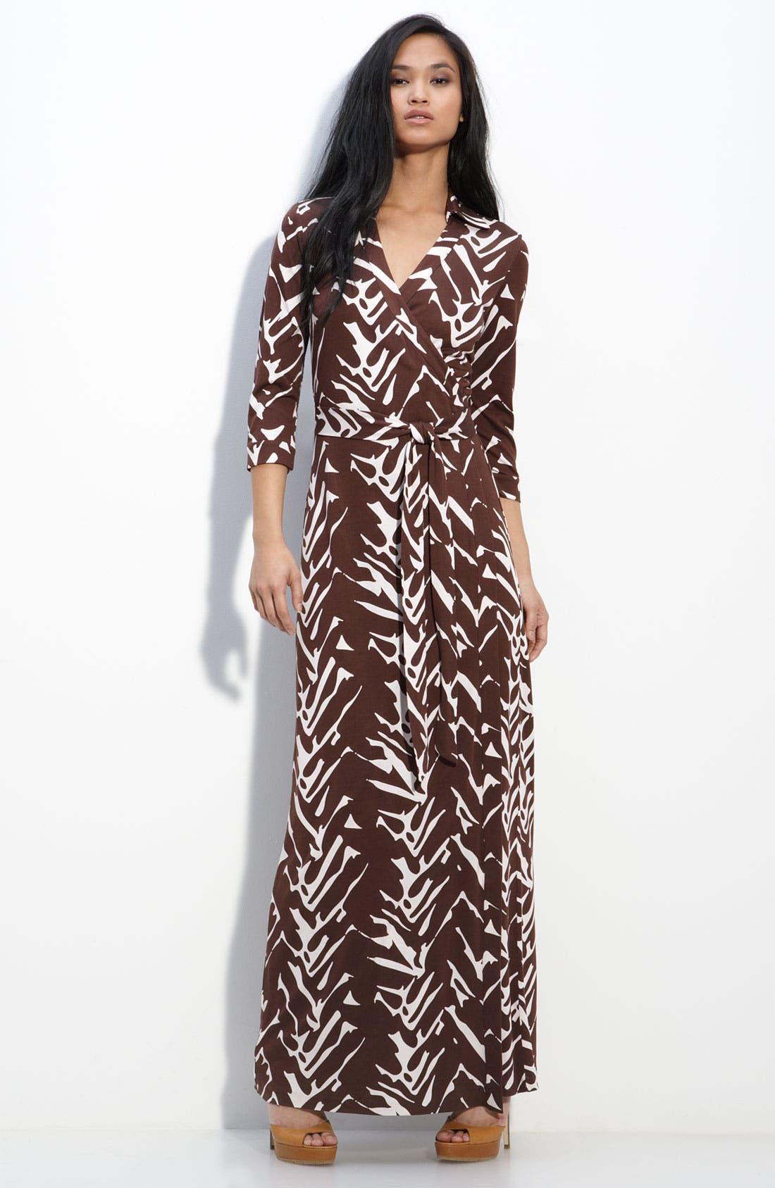 Main Image - Diane von Furstenberg 'Abigail' Maxi Wrap Dress