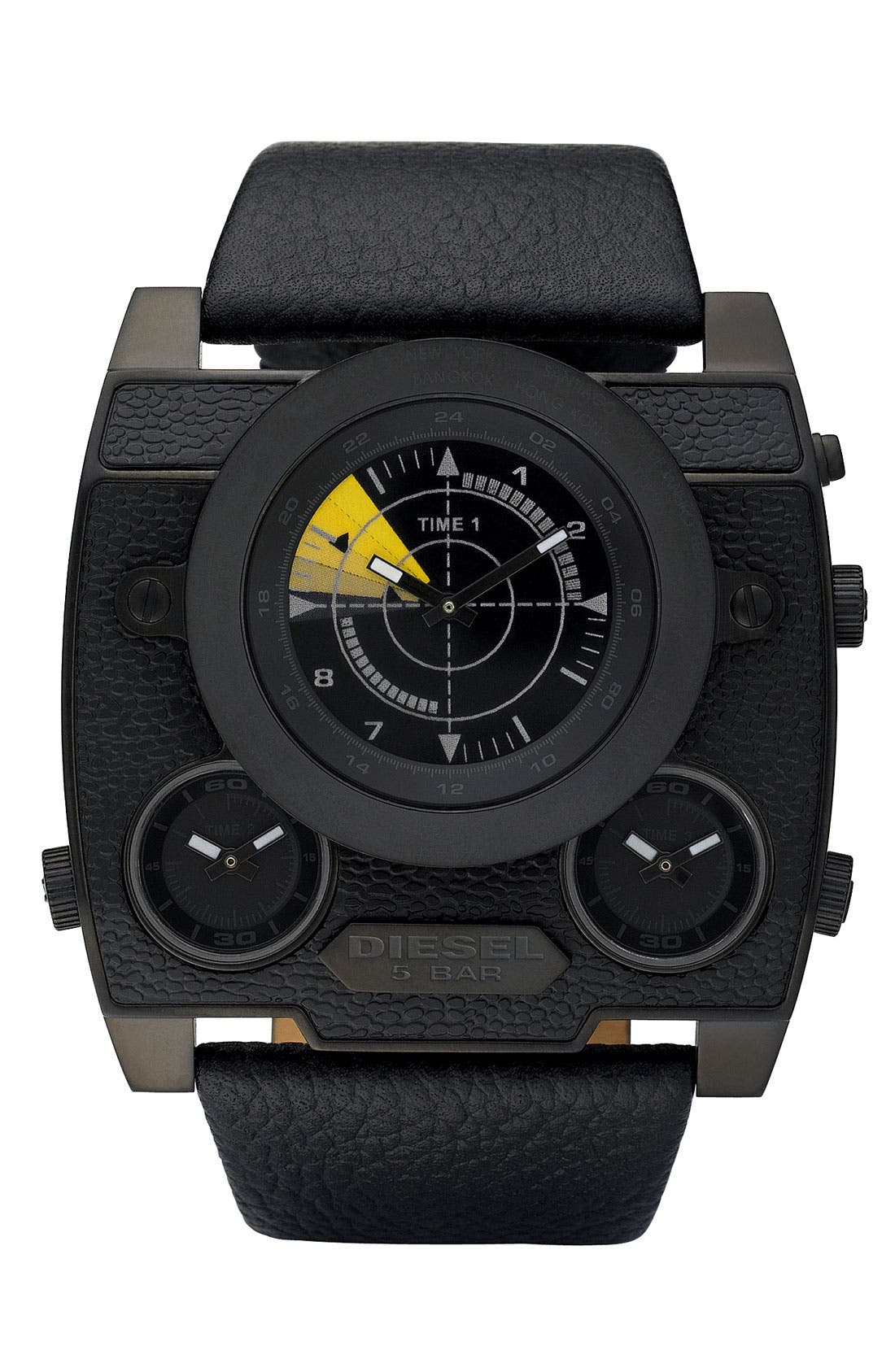 Alternate Image 1 Selected - DIESEL® Large Square Chronograph Watch