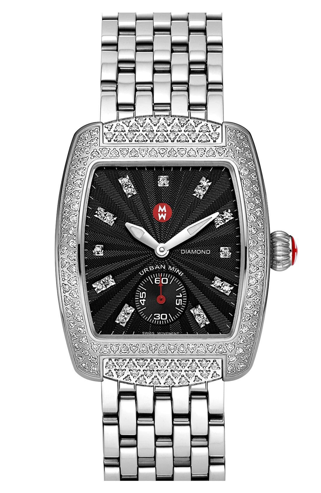 Alternate Image 3  - MICHELE 'Urban Mini Diamond' Black Dial Watch Case