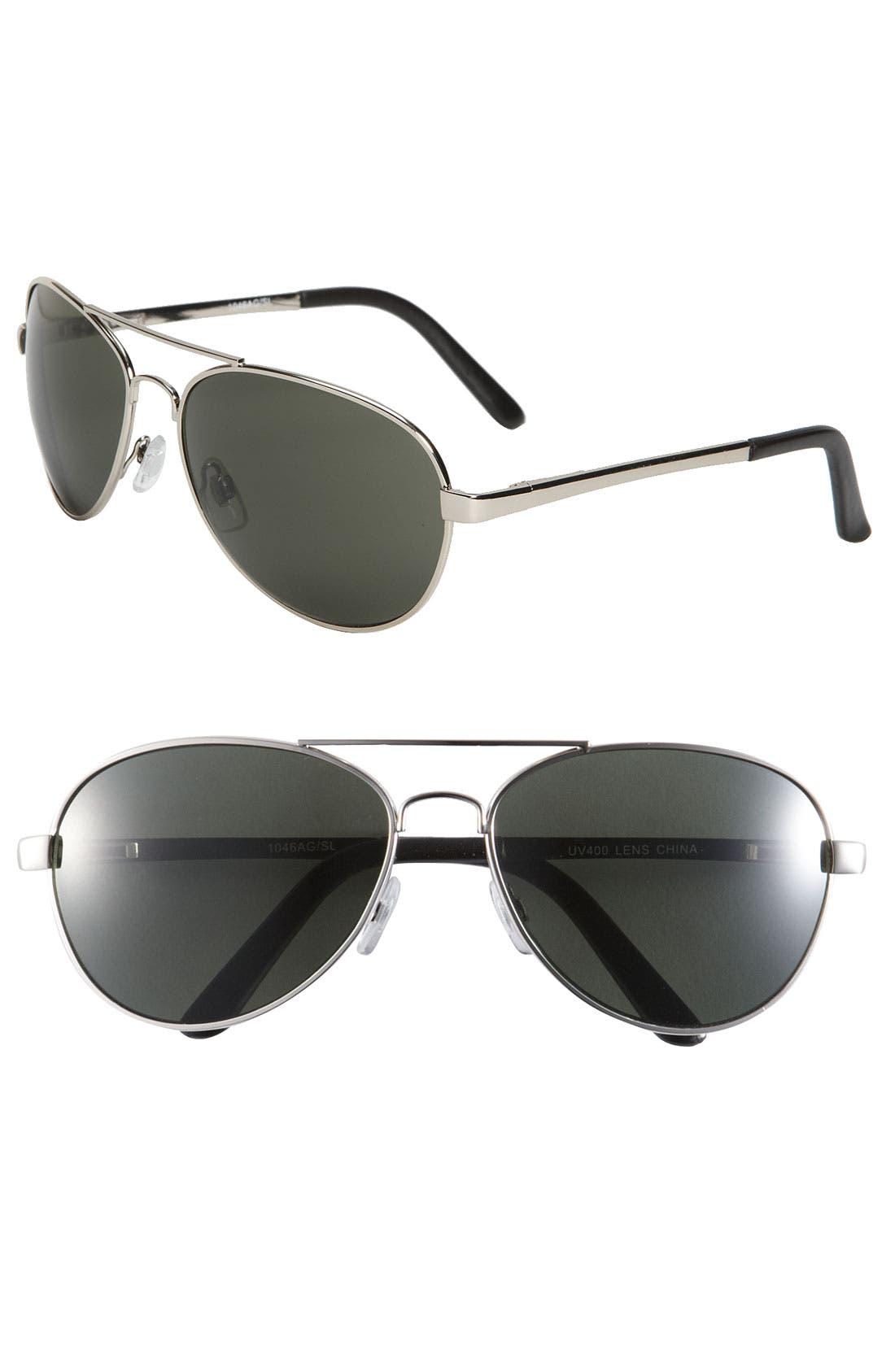 Alternate Image 1 Selected - KW 'Rush' 60mm Aviator Sunglasses