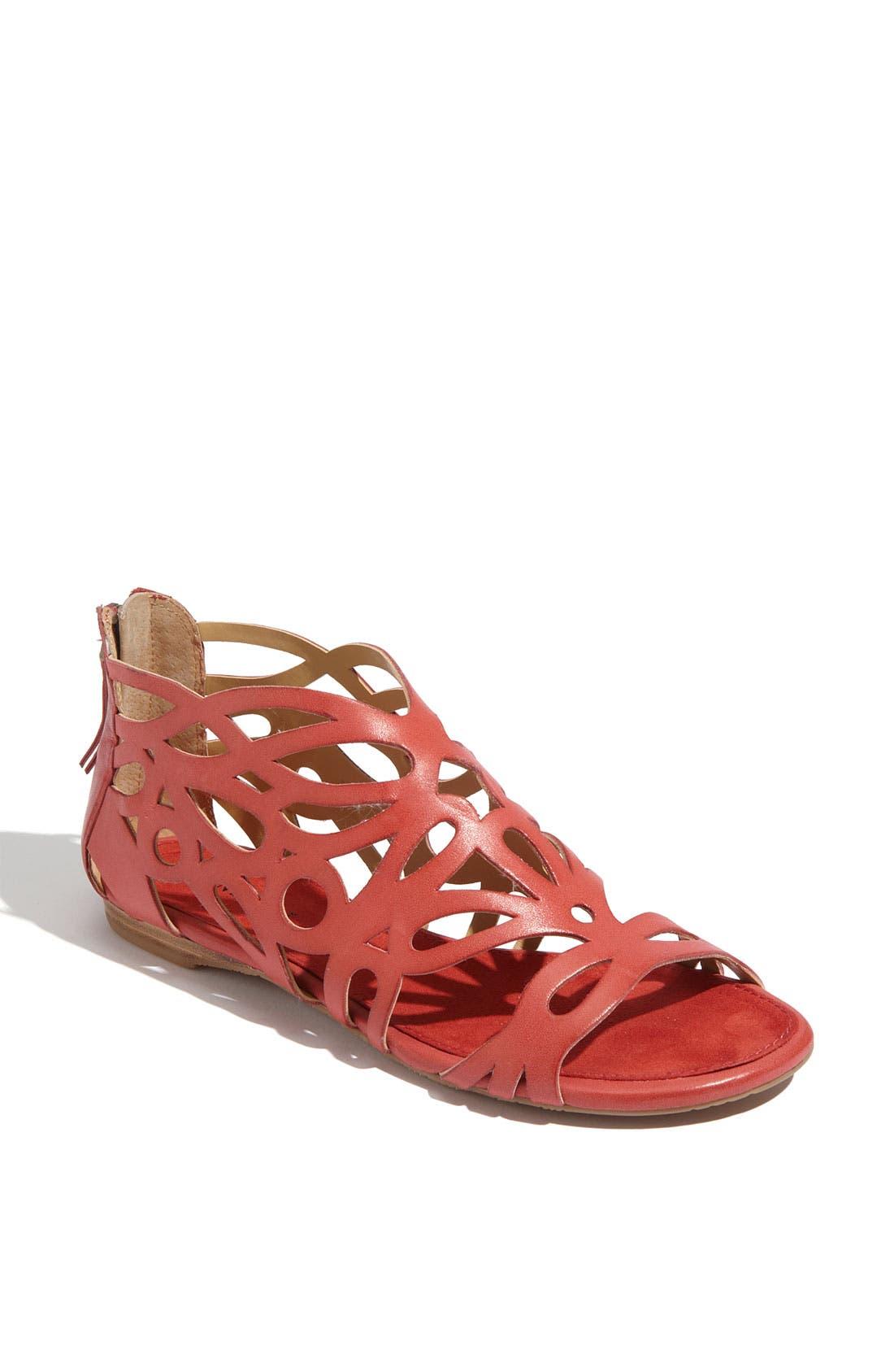 'Tali' Sandal,                             Main thumbnail 1, color,                             Red Leather