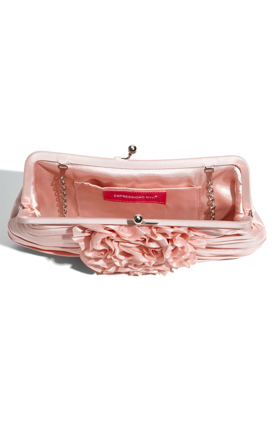 Alternate Image 3  - Expressions NYC 'Silk Roses' Kisslock Frame Clutch