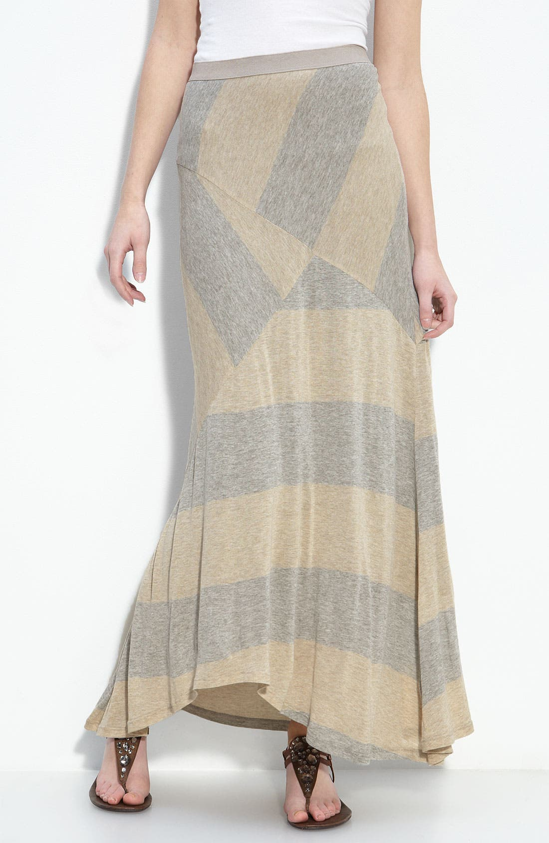 Main Image - Ella Moss 'Montana' Rugby Stripe Maxi Skirt