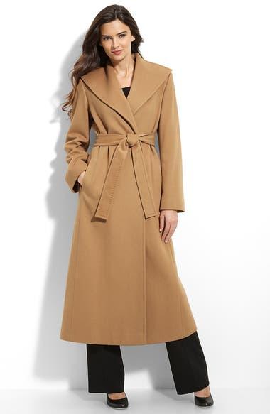Fleurette Long Cashmere Wrap Coat (Petite) | Nordstrom