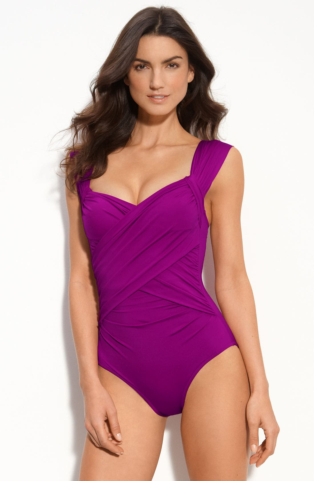 Main Image - Badgley Mischka 'MB11' Shirred Maillot
