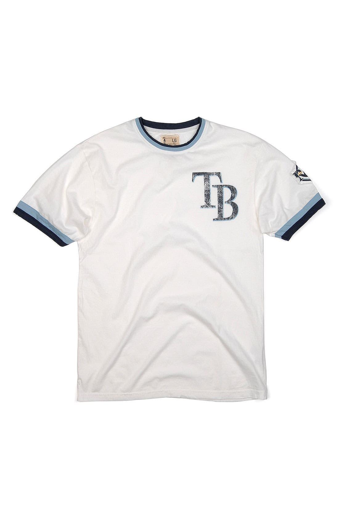 Main Image - Red Jacket 'Tampa Bay Rays' Trim Fit Ringer T-Shirt (Men)