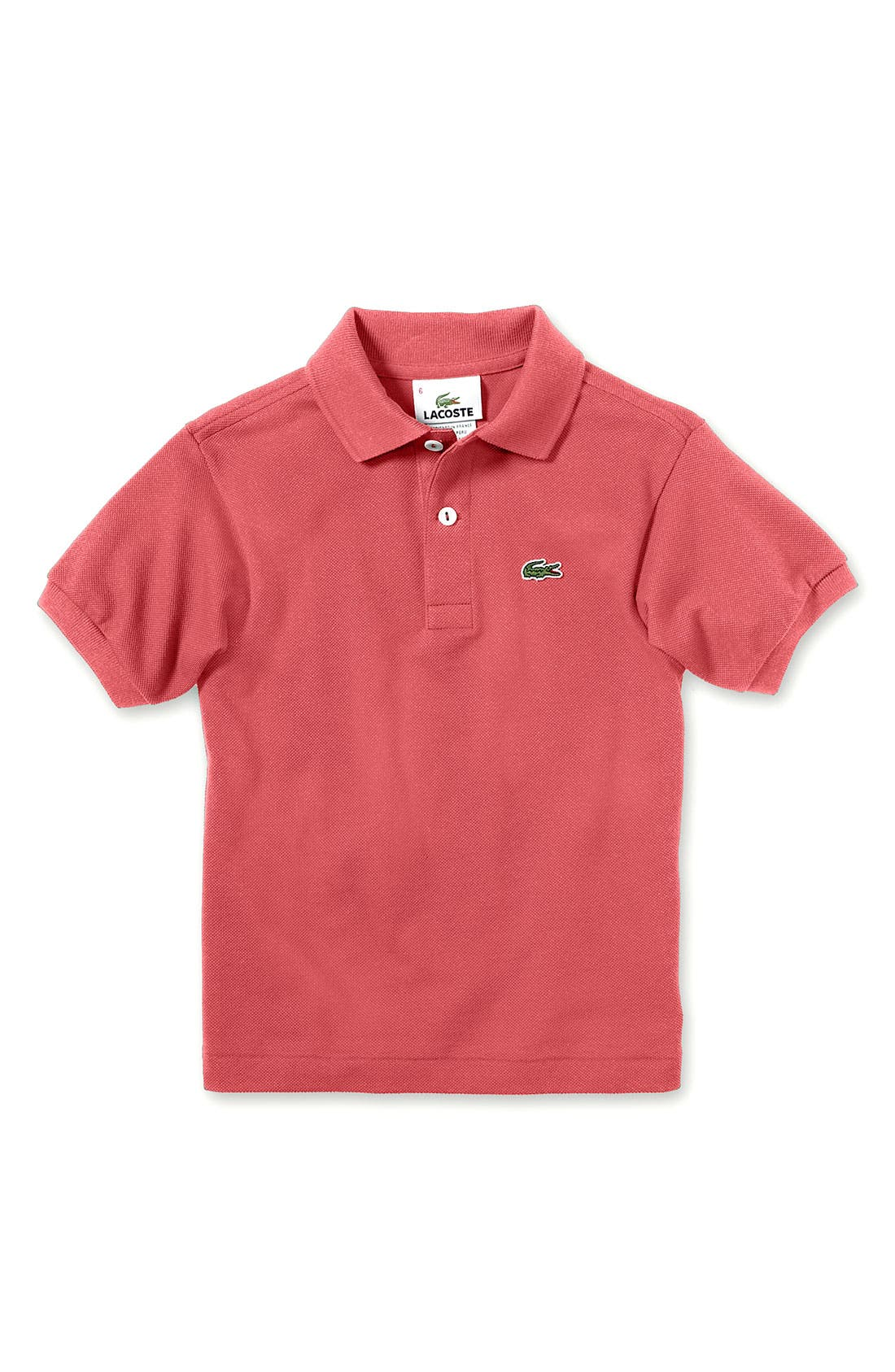 Alternate Image 1 Selected - Lacoste Short Sleeve Piqué Polo (Little Boys & Big Boys)