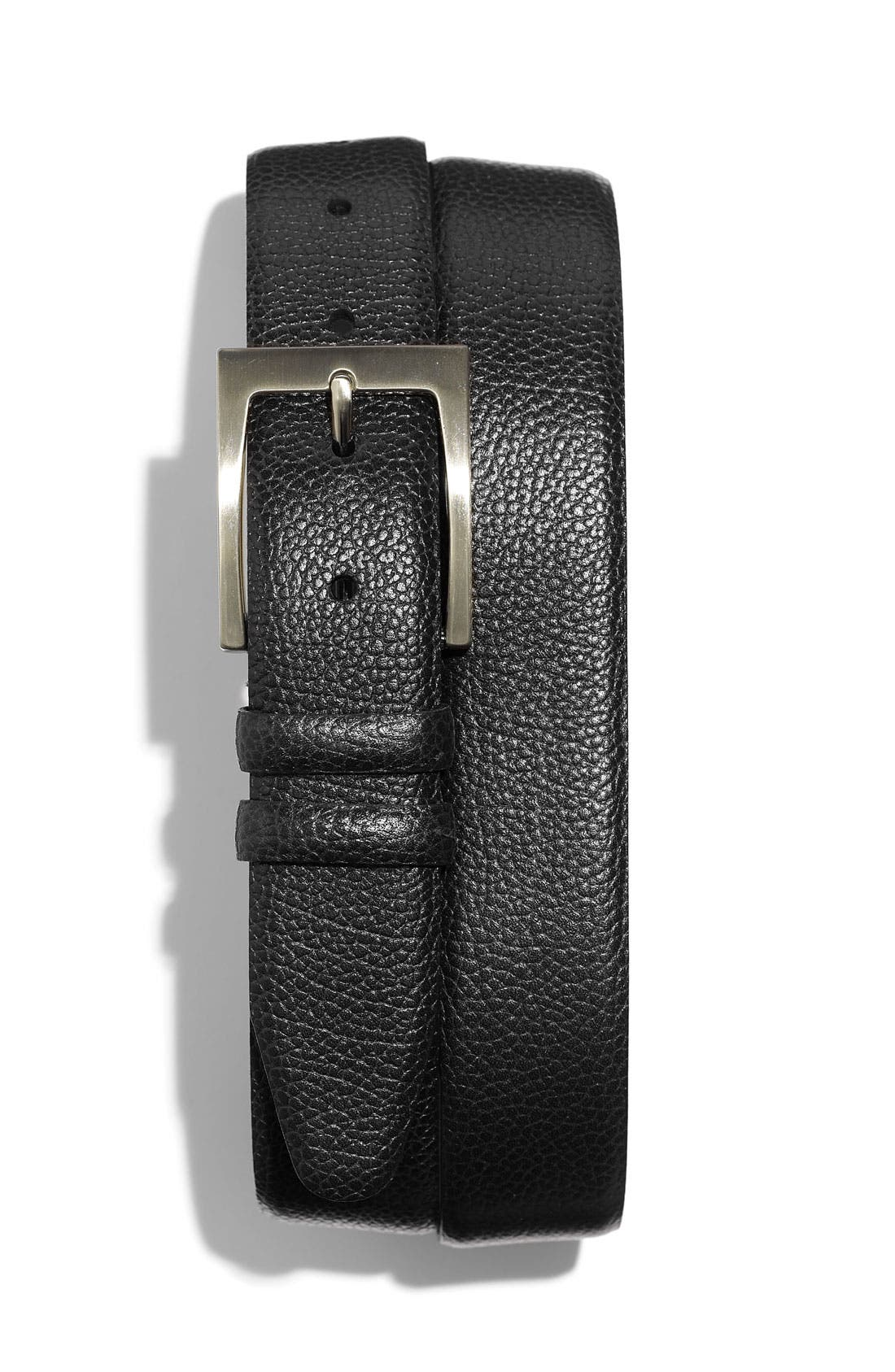 Alternate Image 1 Selected - Nordstrom Pebbled Leather Belt