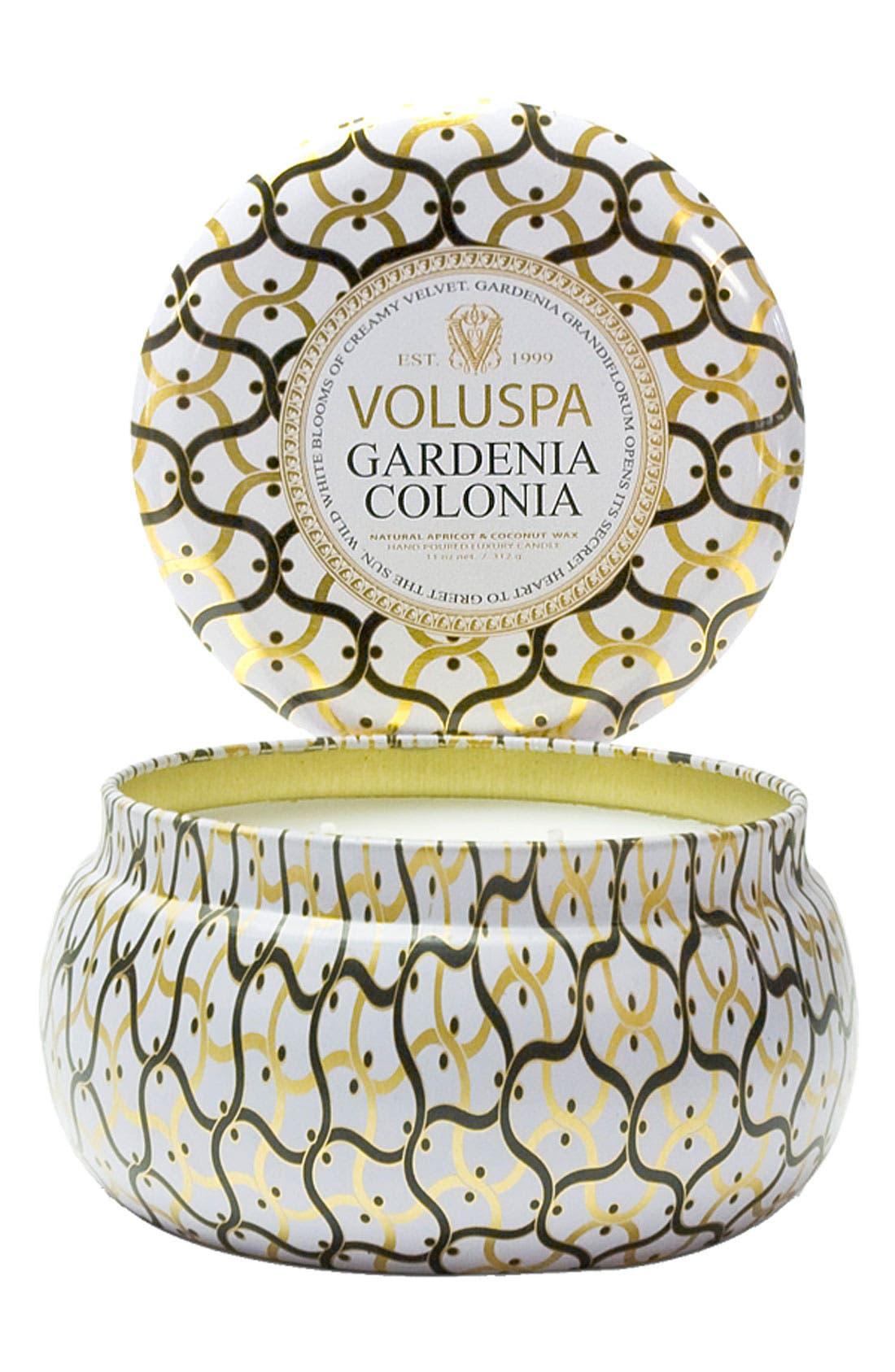Alternate Image 1 Selected - Voluspa 'Maison Blanc - Gardenia Colonia' 2-Wick Candle
