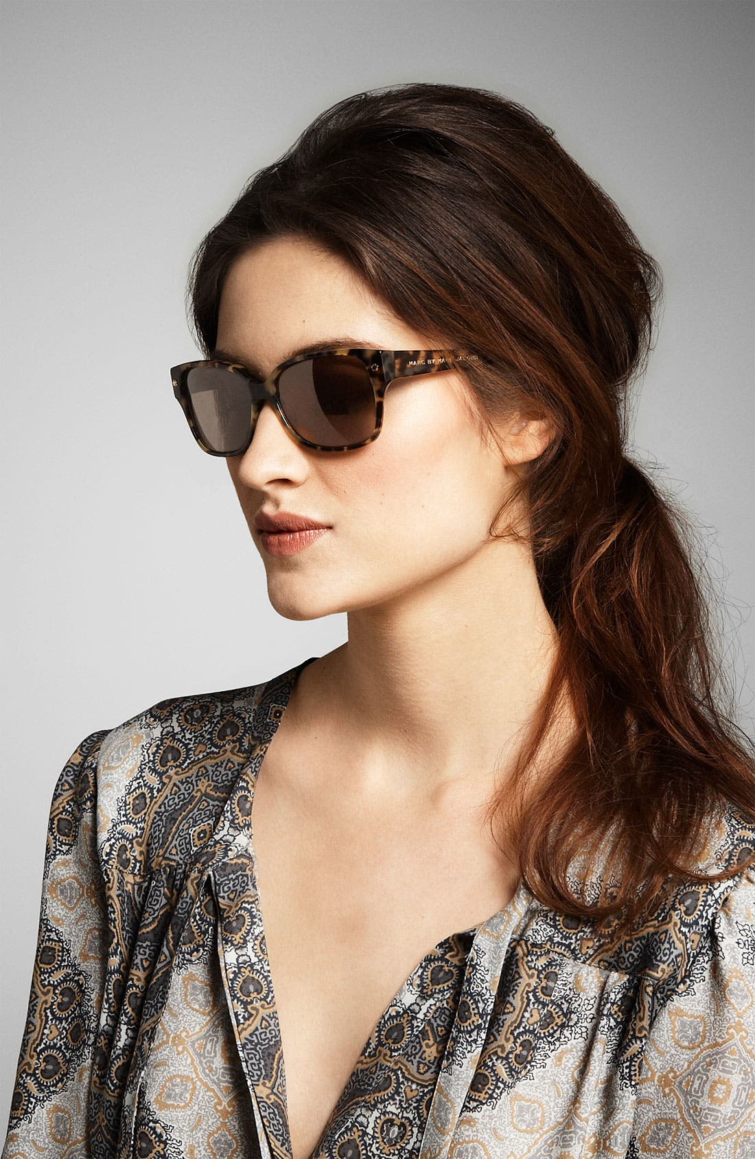 Alternate Image 2  - MARC BY MARC JACOBS Colorblock Cat's Eye Sunglasses