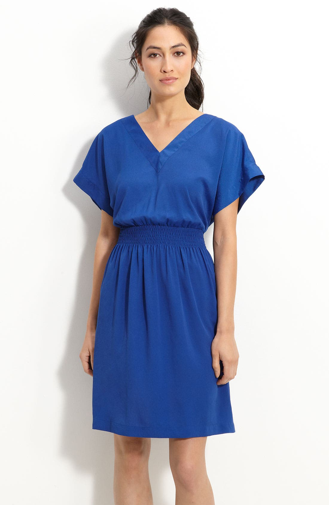 Alternate Image 1 Selected - Suzi Chin for Maggy Boutique Blouson Crêpe de Chine Dress