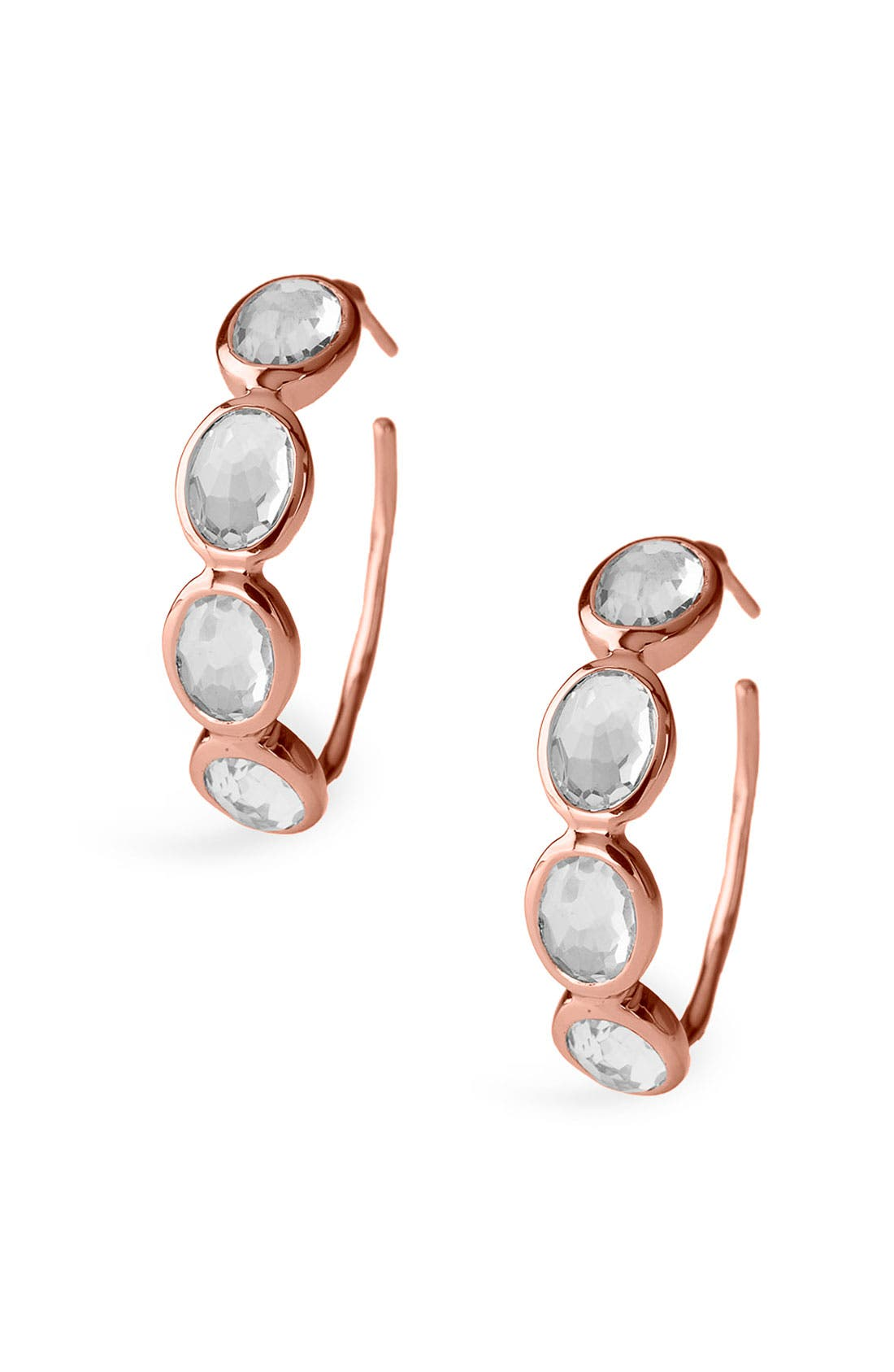 Main Image - Ippolita 'Rock Candy - Number 2' Rosé 4-Stone Hoop Earrings