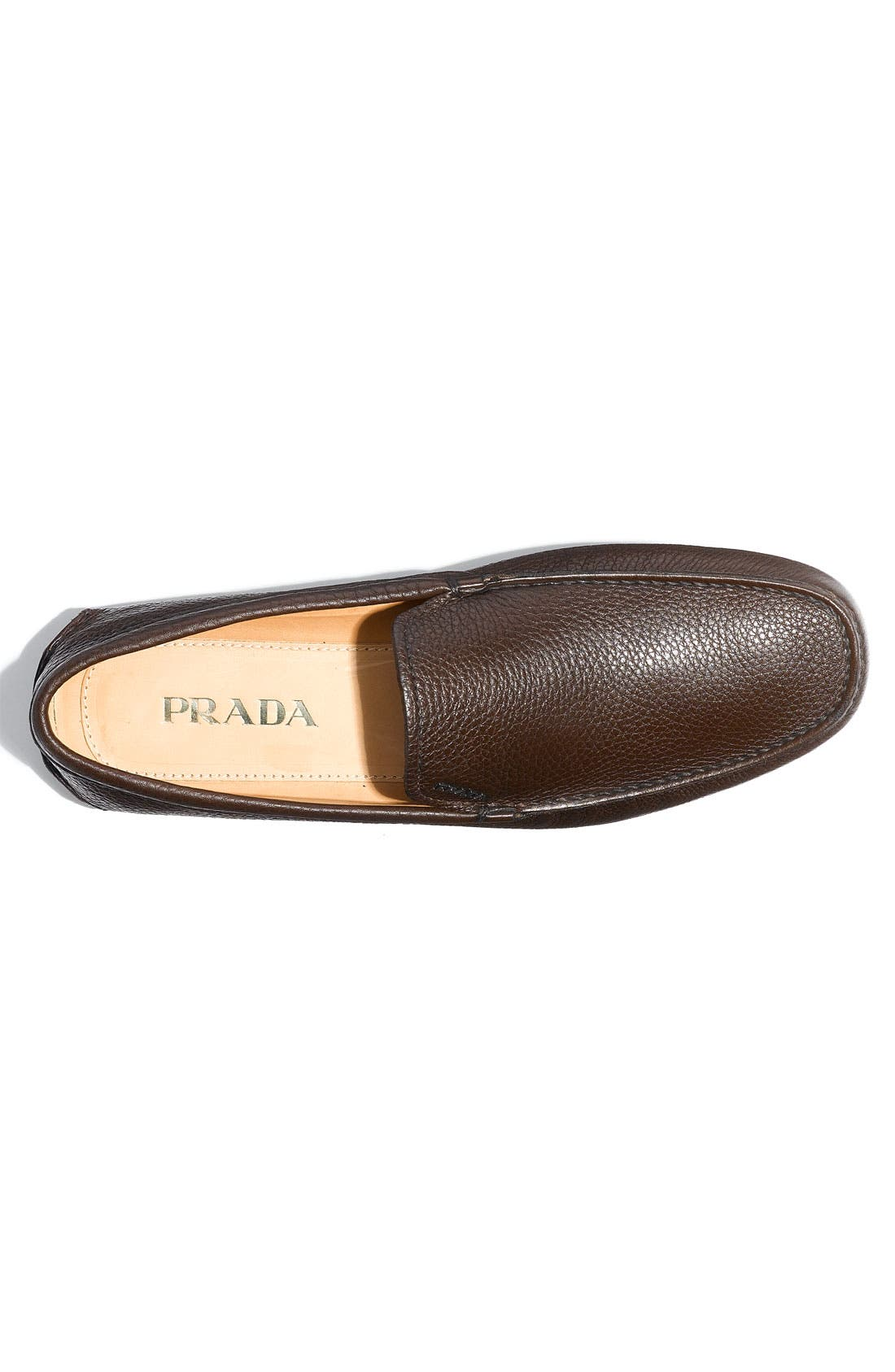 Alternate Image 3  - Prada Pebbled Leather Driving Shoe (Men)