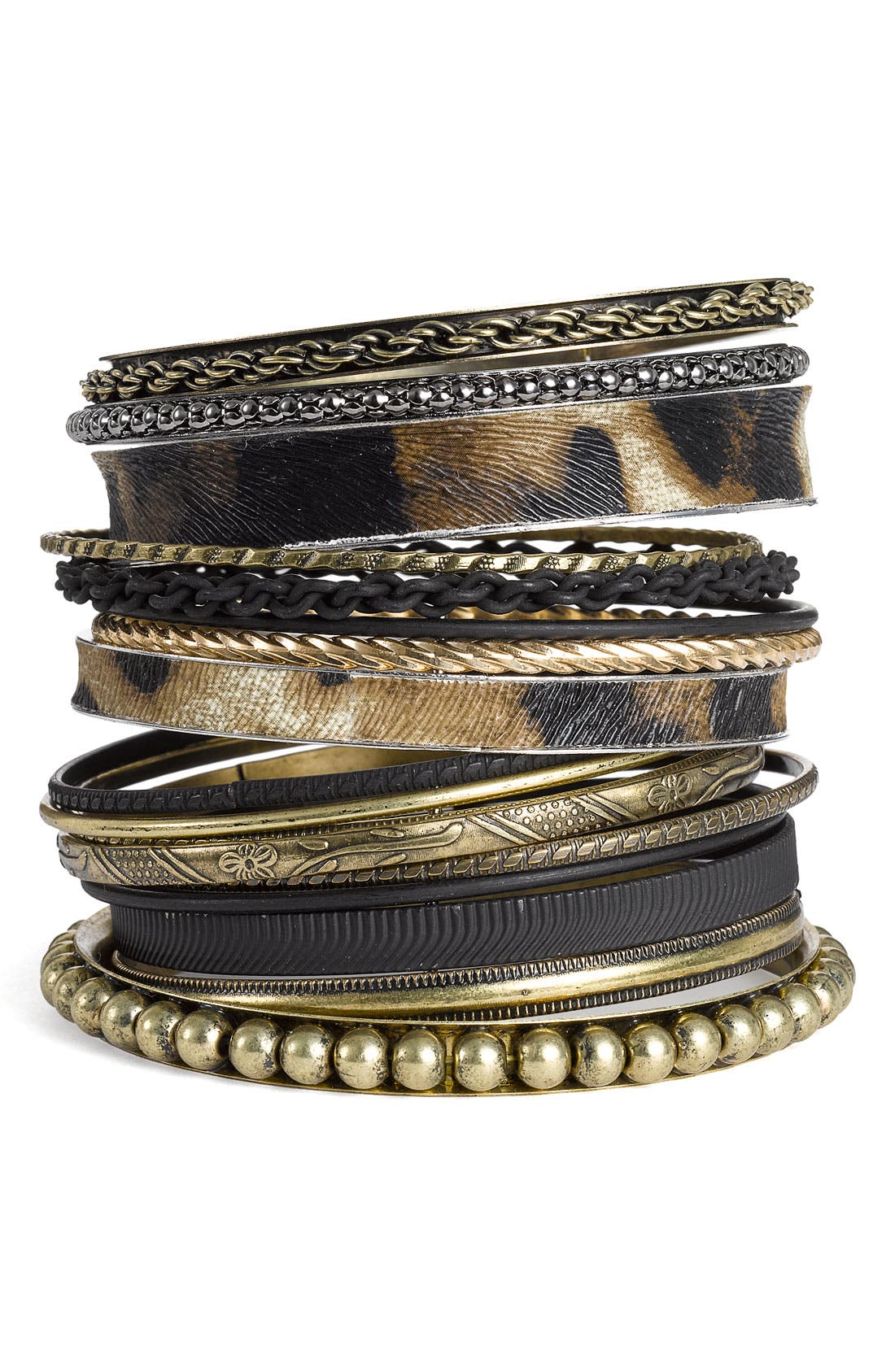 Alternate Image 1 Selected - Natasha Couture Mixed Media Bangles (Nordstrom Exclusive)