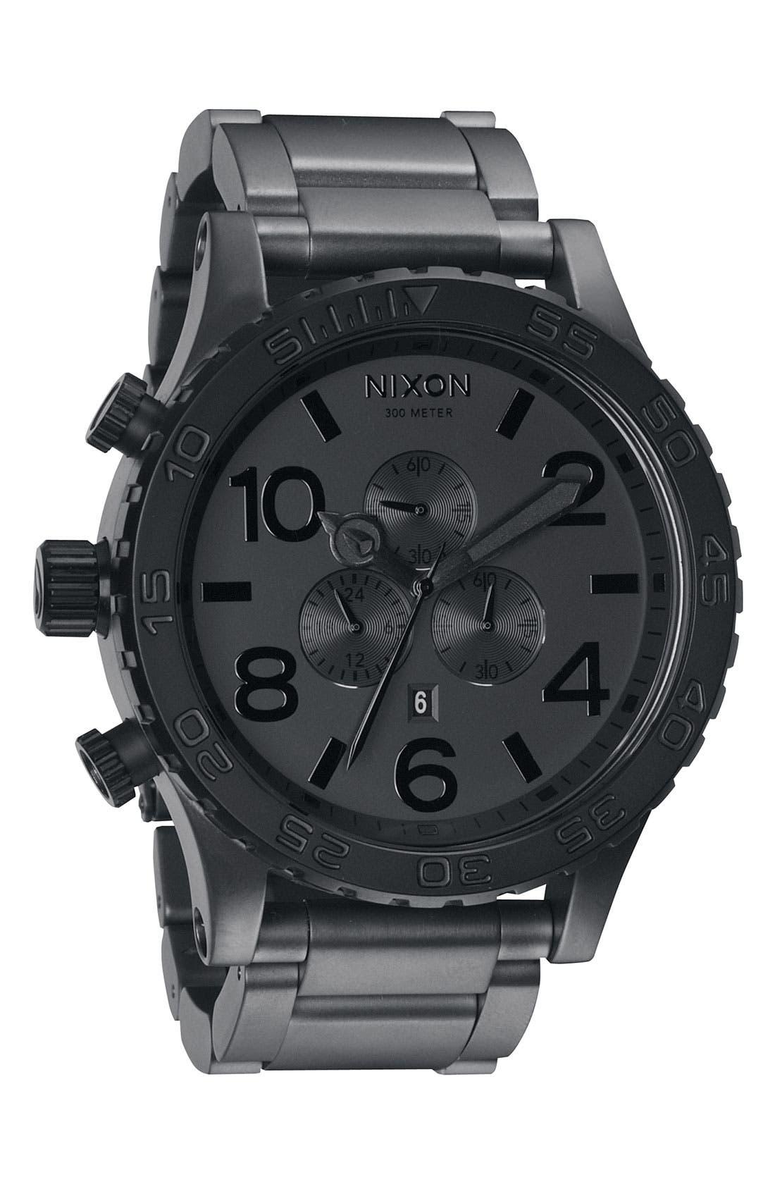 'The 51-30 Chrono' Watch, 51mm,                         Main,                         color, Matte Black/ Gunmetal
