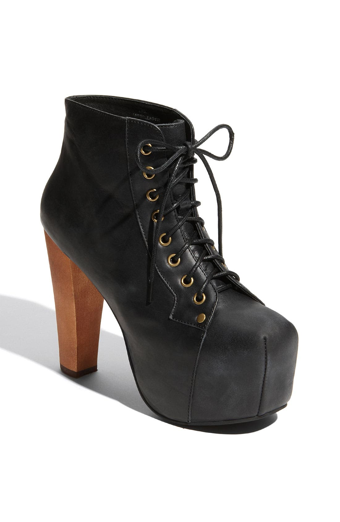 'Lita' Bootie,                             Main thumbnail 1, color,                             Black Distressed