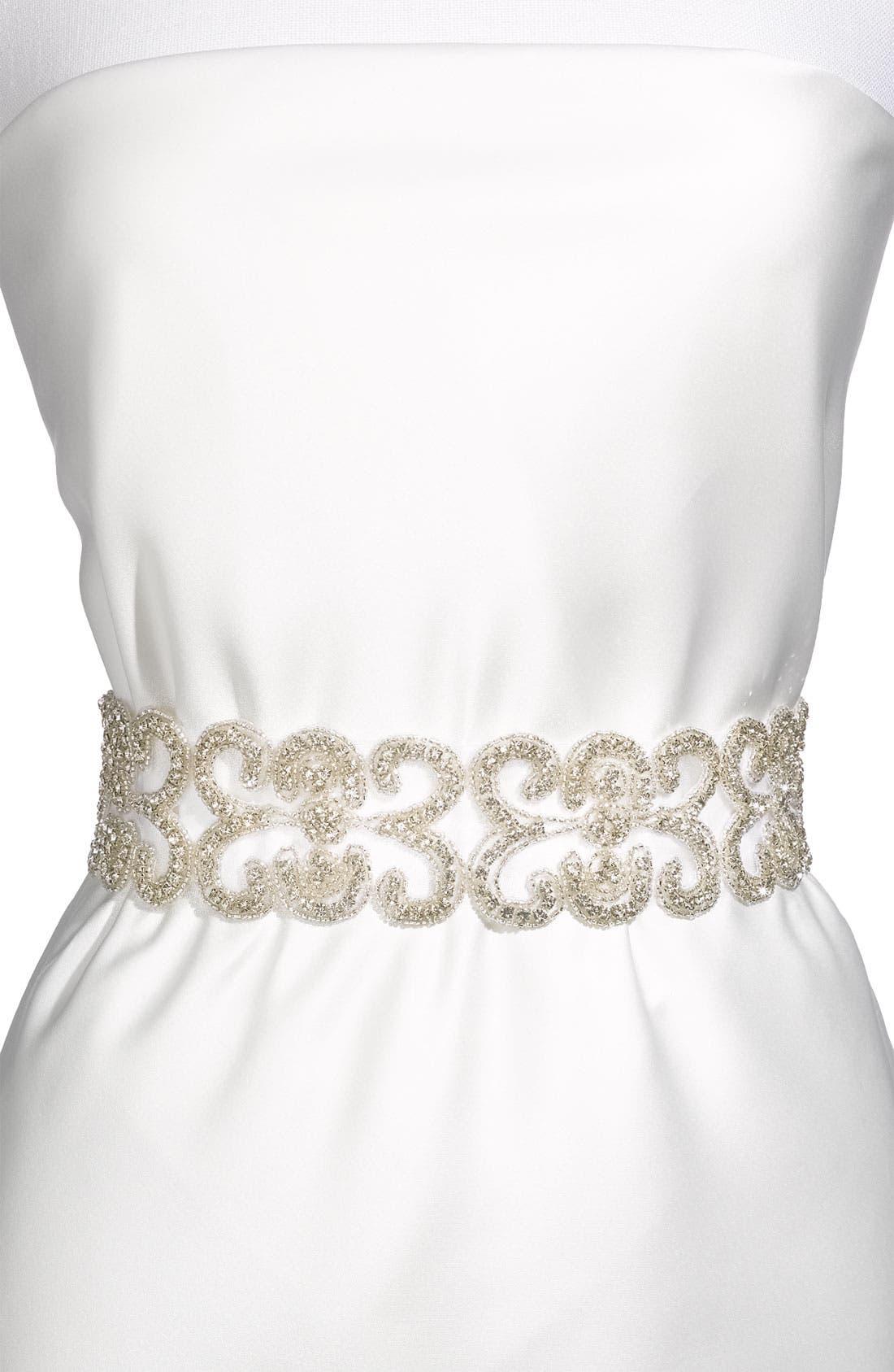 Alternate Image 2  - Cara Crystal Bridal Belt