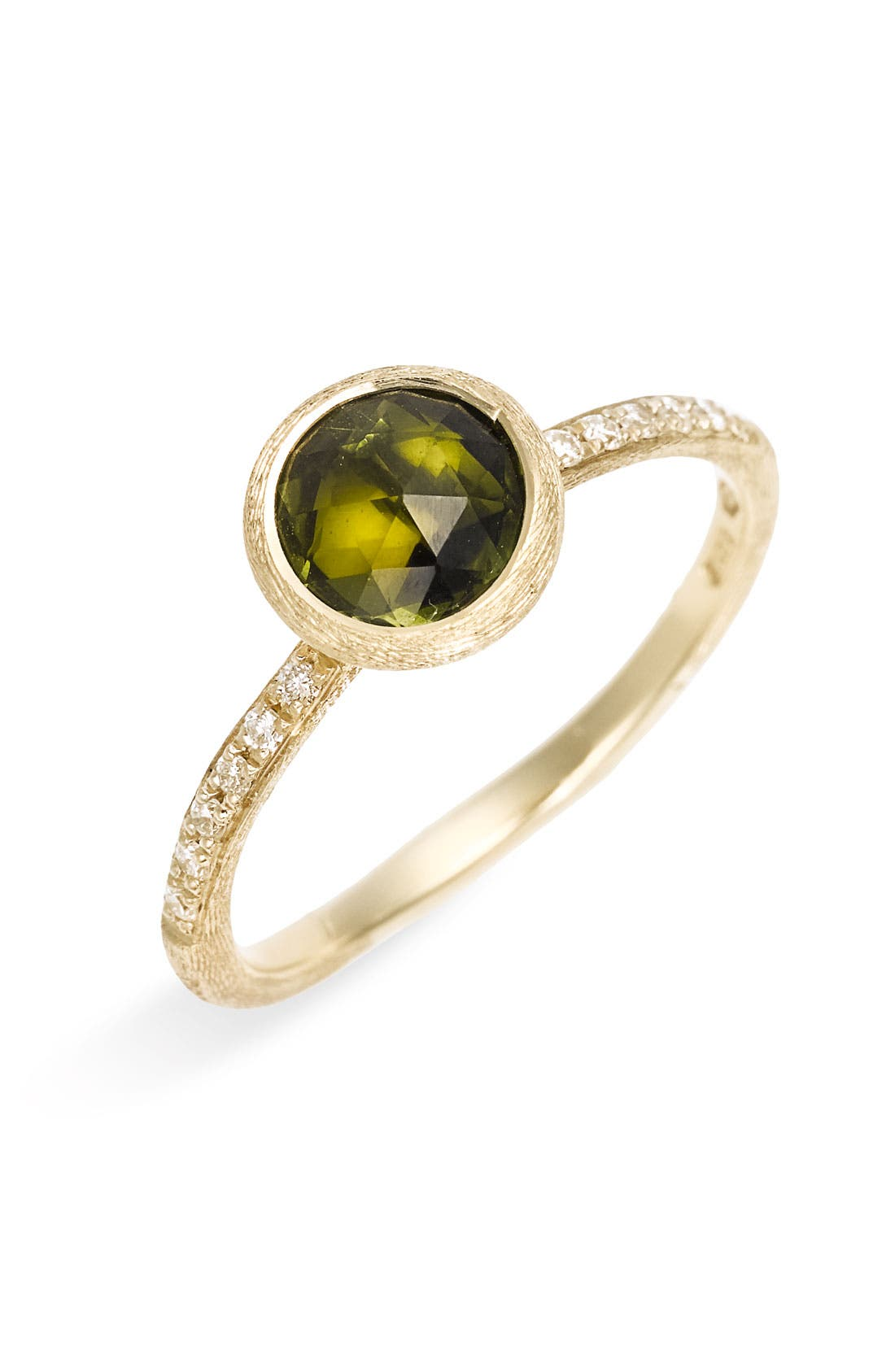 Alternate Image 1 Selected - Marco Bicego 'Jaipur' Tourmaline & Pavé Diamond Stackable Ring
