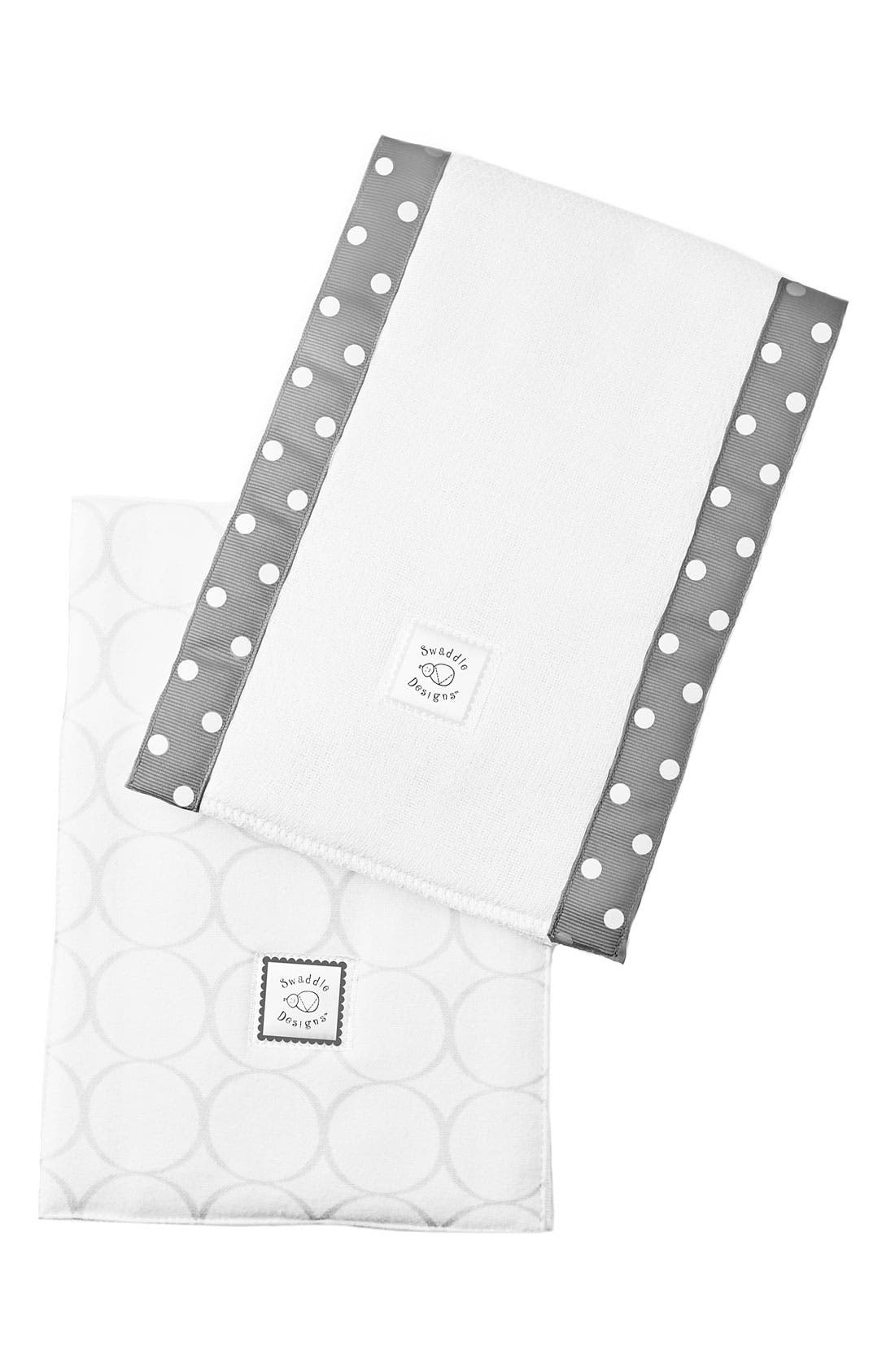 Alternate Image 1 Selected - Swaddle Designs Burp Cloth (Set of 2)
