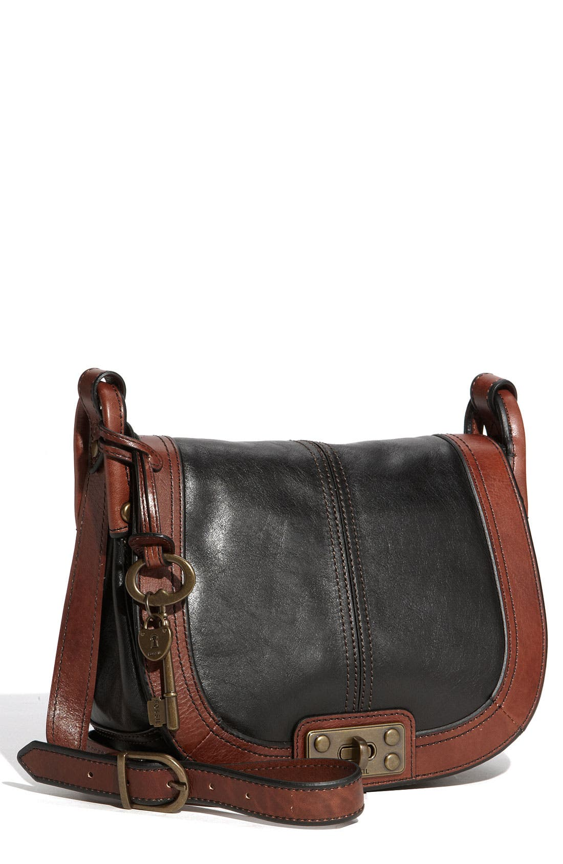 Alternate Image 1 Selected - Fossil Leather Crossbody Bag