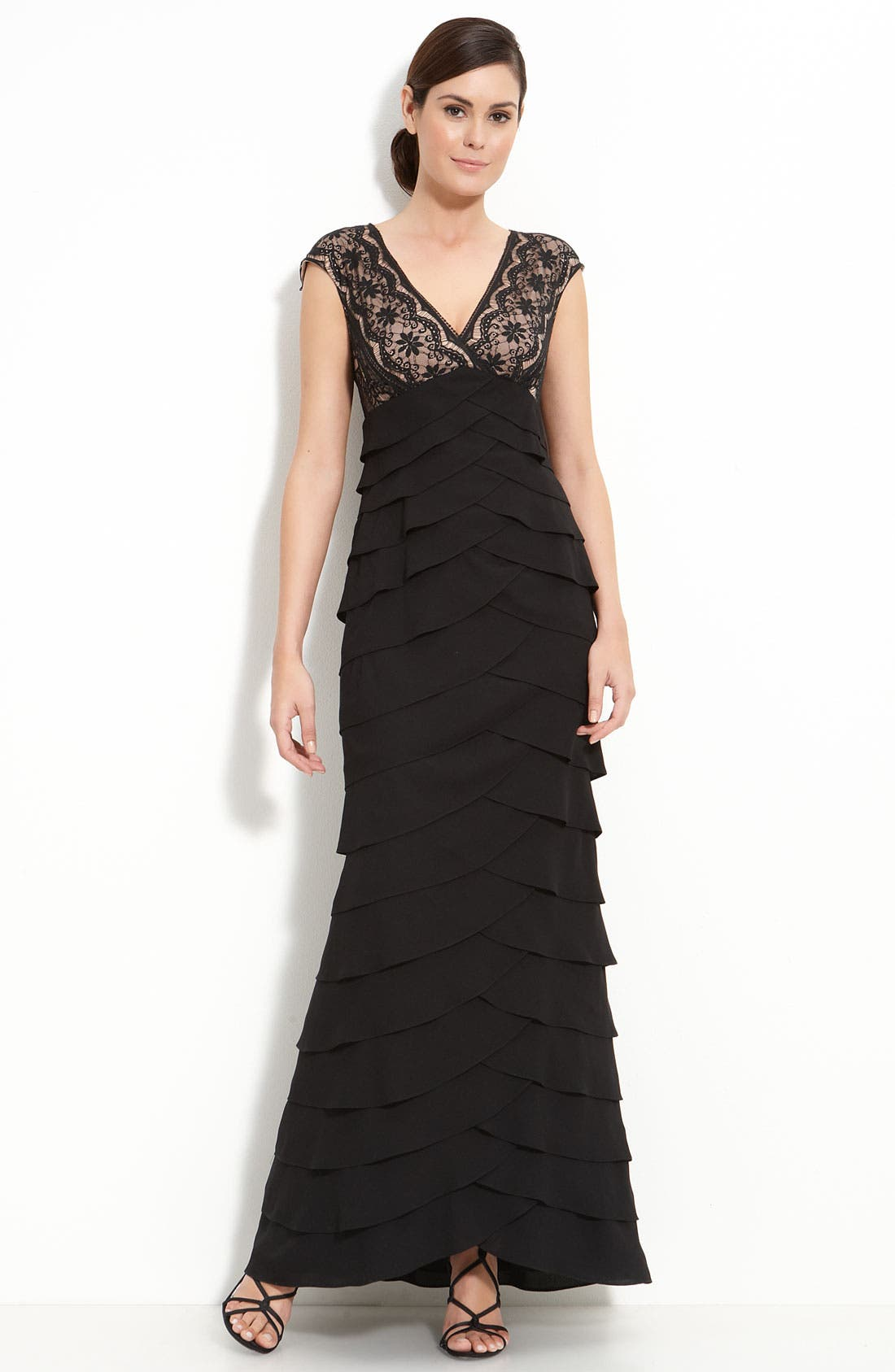 Alternate Image 1 Selected - Adrianna Papell Lace & Chiffon Gown