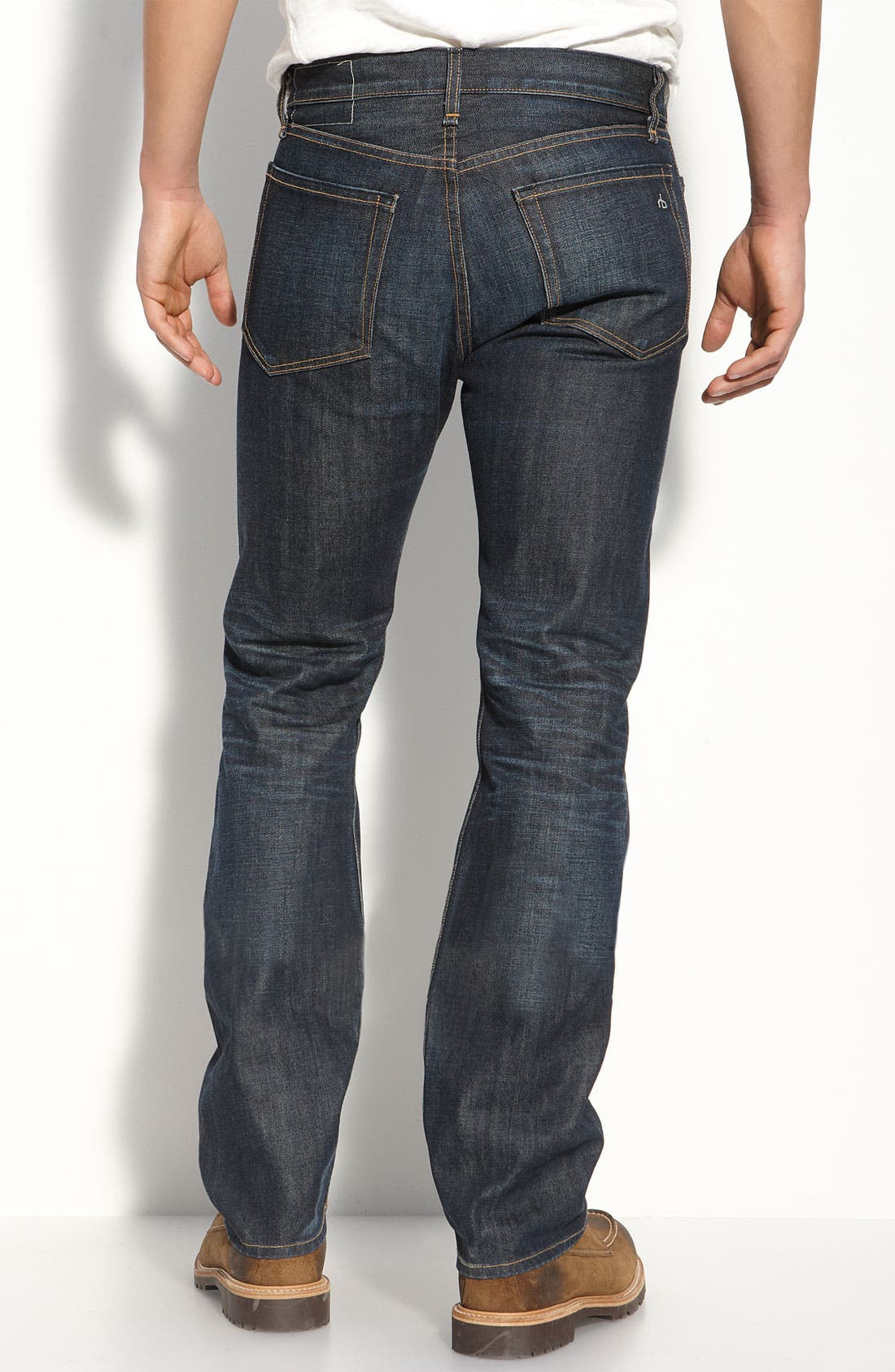 Alternate Image 1 Selected - rag & bone 'RB11X' Straight Leg Jeans (Dover Wash)