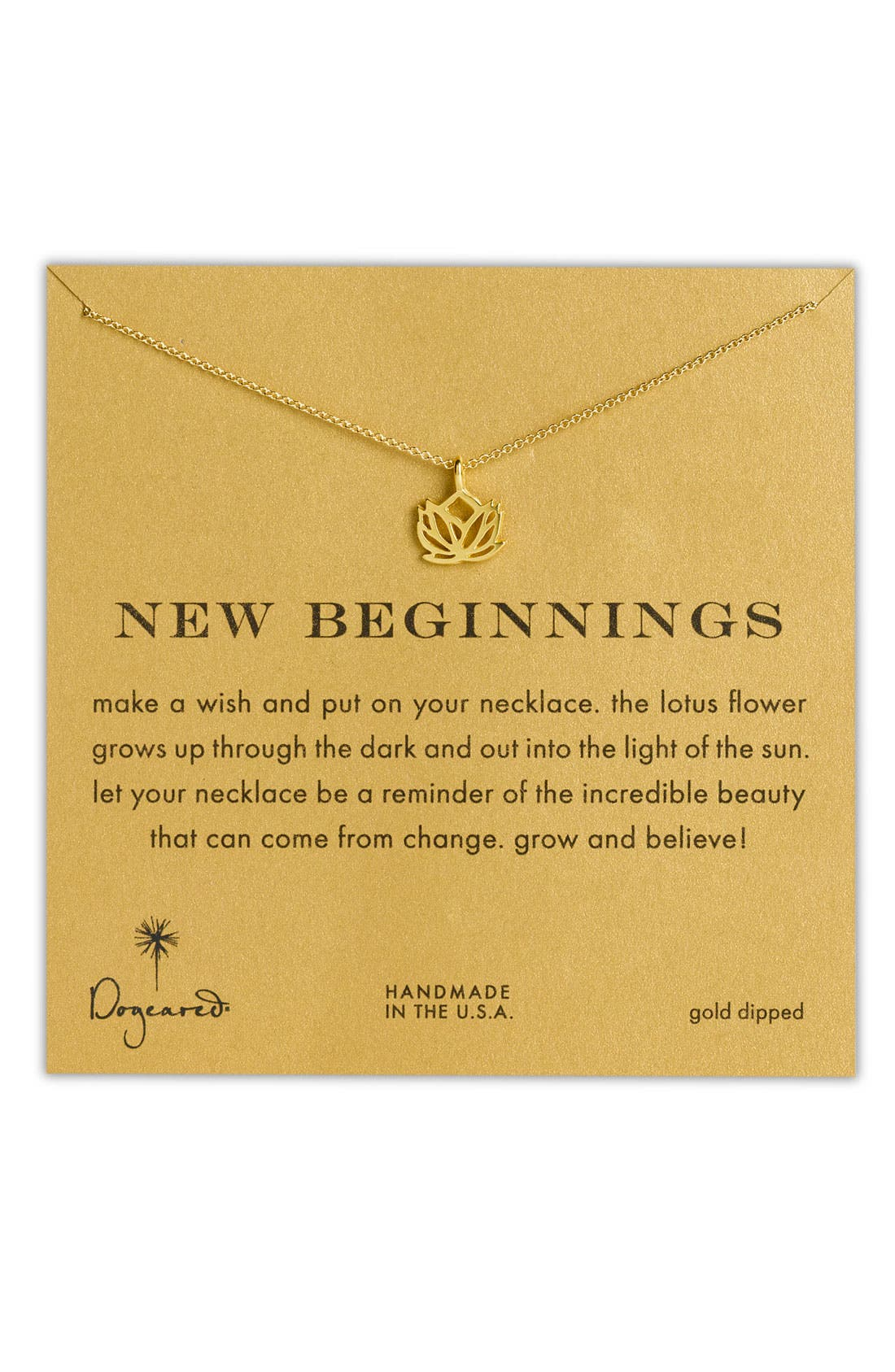 Main Image - Dogeared 'Reminder - New Beginnings' Pendant Necklace
