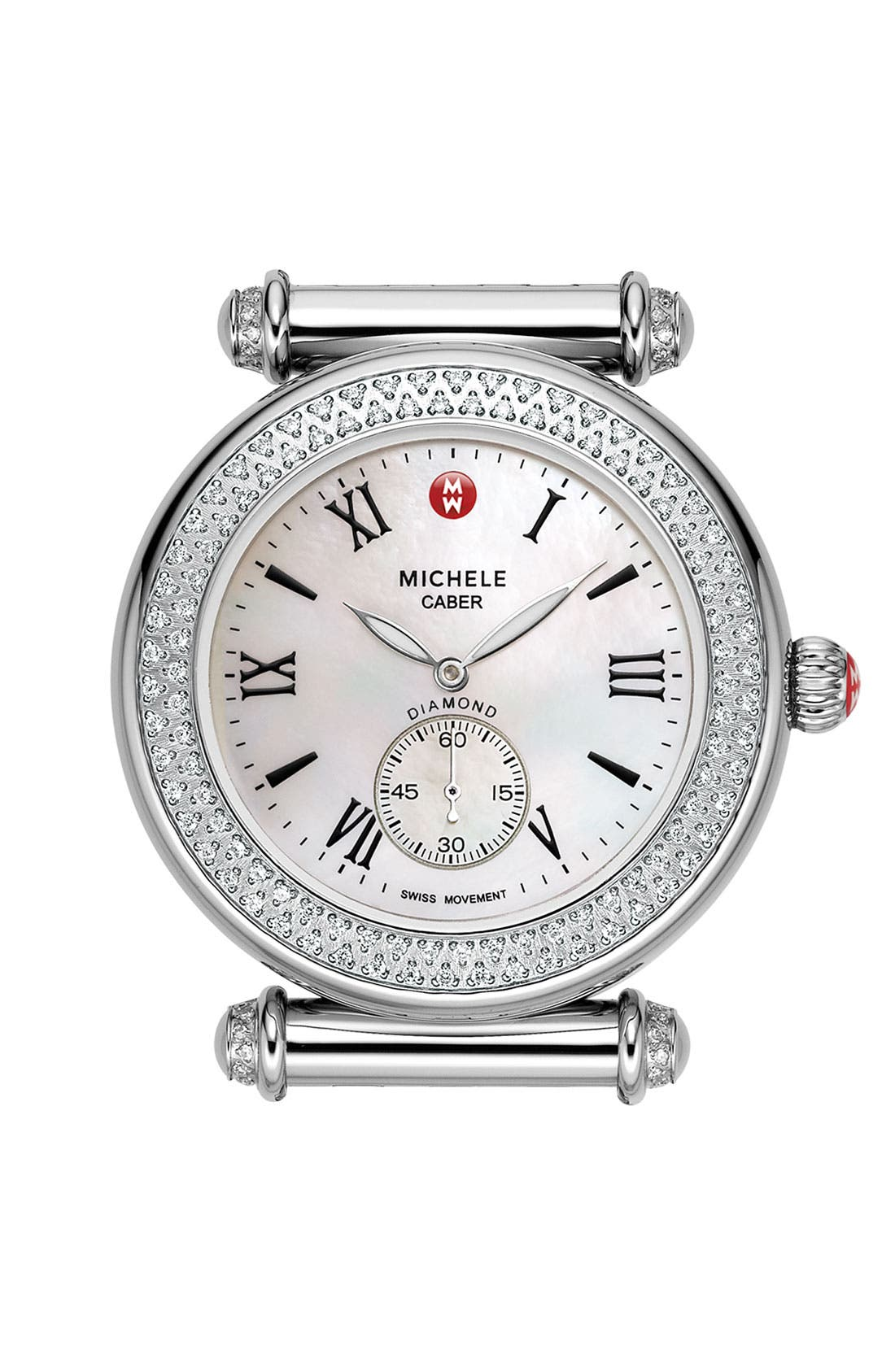 Main Image - MICHELE 'Caber' Diamond Gold Watch Case, 38mm