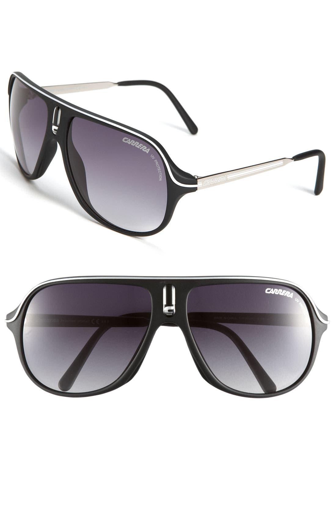 Alternate Image 1 Selected - Carrera Eyewear 'Safarrs' 62mm Aviator Sunglasses