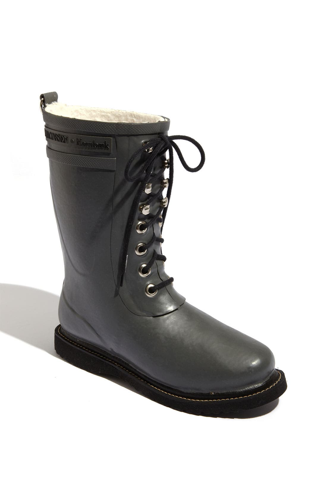 ILSE JACOBSEN Rubber Waterproof Boot in Grey