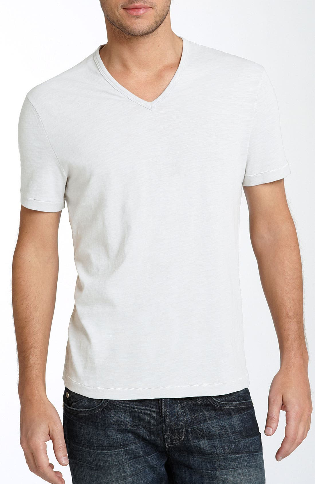Alternate Image 1 Selected - John Varvatos Star USA Trim Fit Slubbed V-Neck T-Shirt (Men)