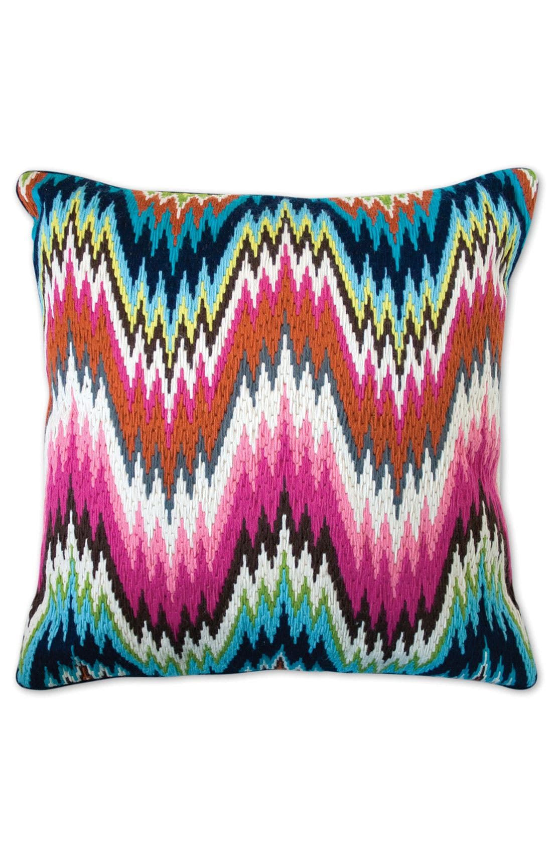 Main Image - Jonathan Adler 'Worth Avenue Bargello' Needlepoint Pillow