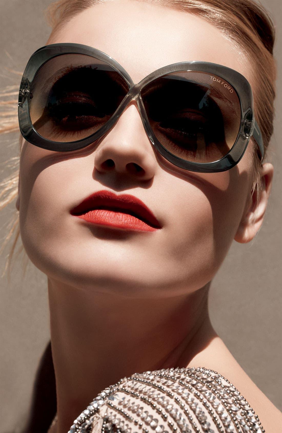 Alternate Image 2  - Tom Ford 'Margot' Oversized Sunglasses
