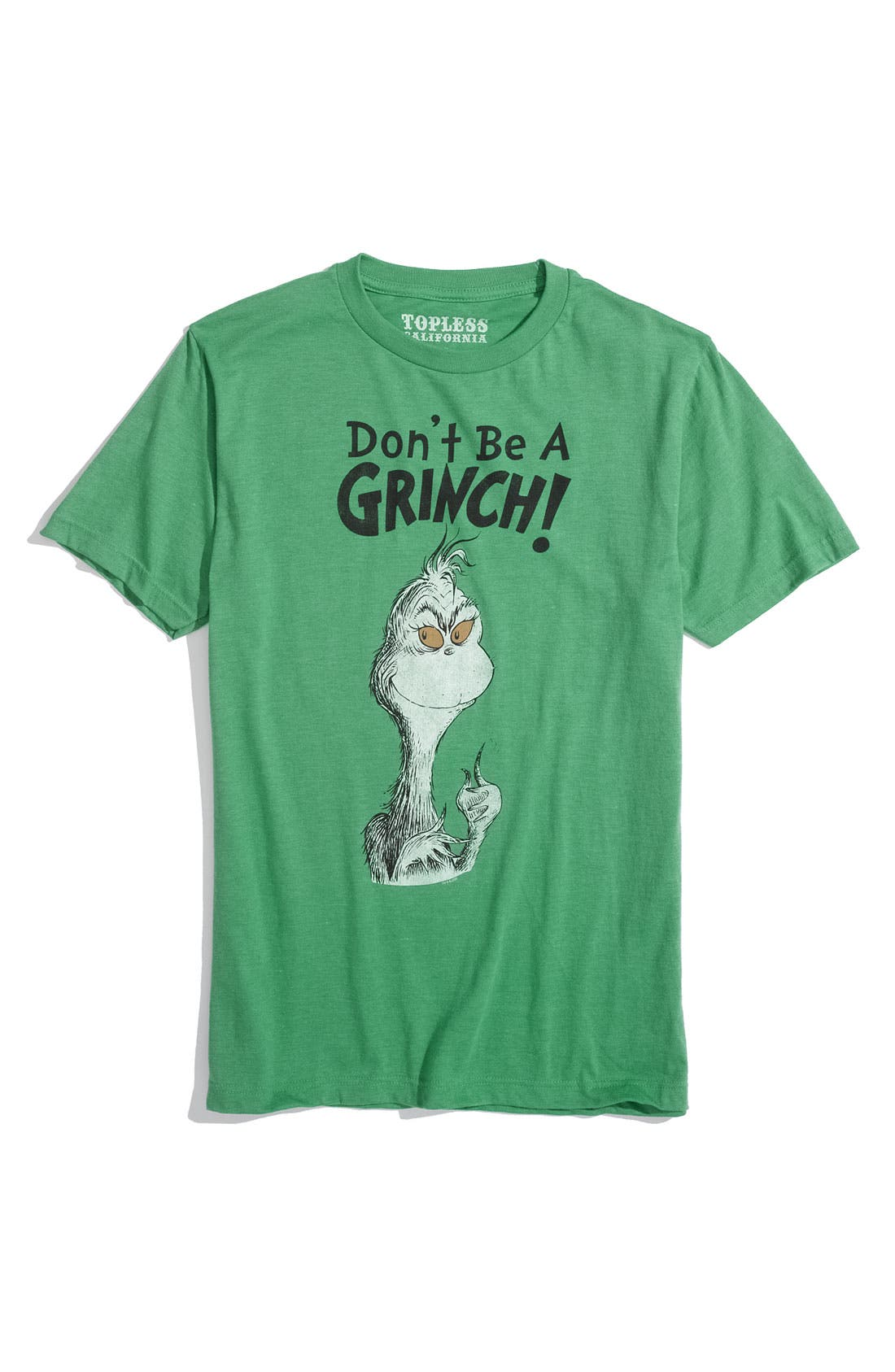 Alternate Image 1 Selected - Topless 'Don't Be A Grinch' Screenprint T-Shirt
