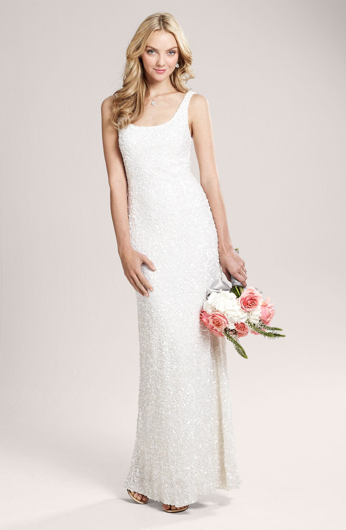 Alternate Image 6  - Theia Beaded Sleeveless Gown