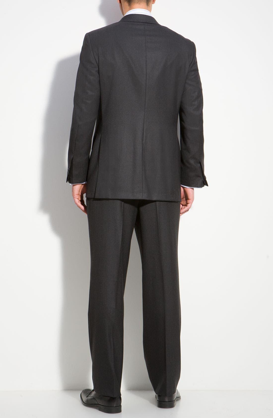 A Fit Wool Suit,                             Alternate thumbnail 2, color,                             Grey