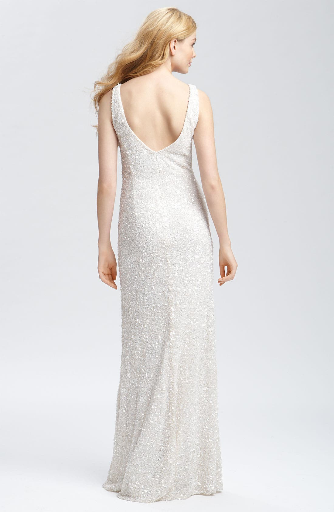Alternate Image 2  - Theia Beaded Sleeveless Gown