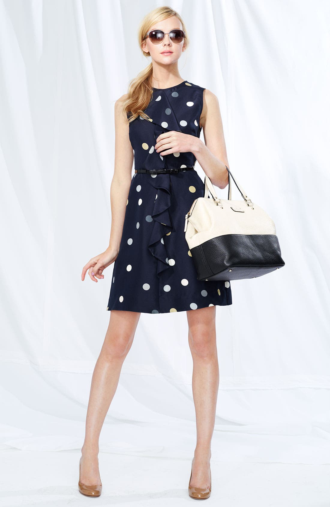 Alternate Image 3  - kate spade new york 'bailey' polka dot ruffle dress