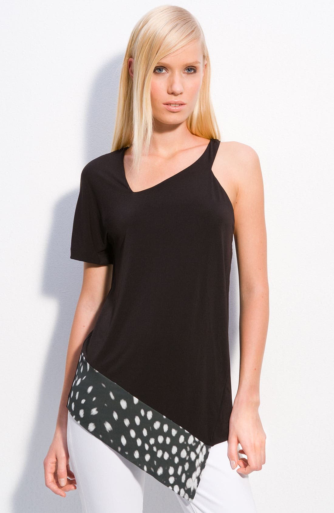 Alternate Image 1 Selected - Just Cavalli One Shoulder Top