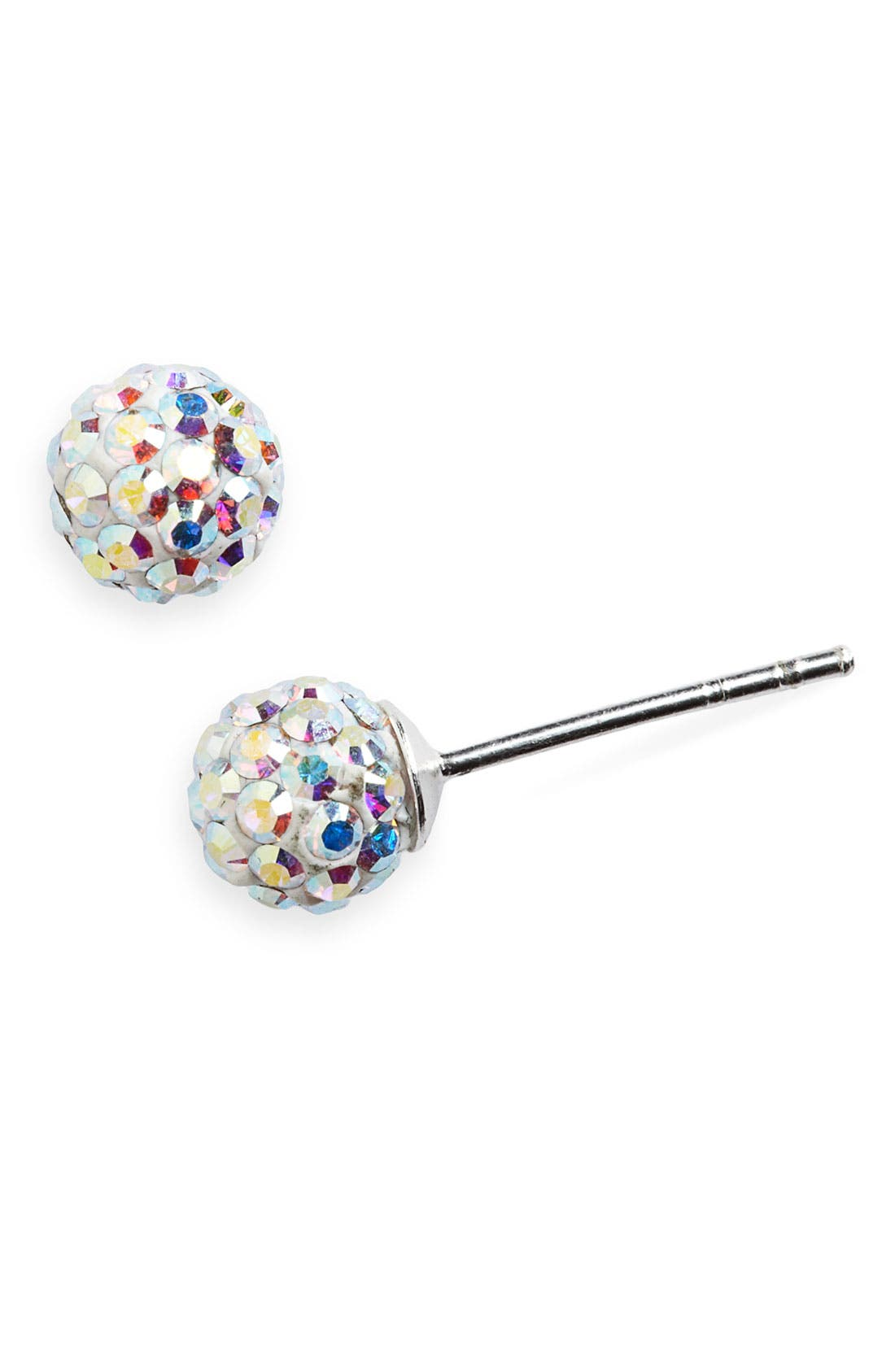 Pavé Earrings,                         Main,                         color, Silver